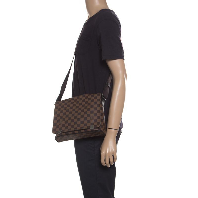 67eb81bcc51 Louis Vuitton Brown Damier Ebene Canvas District Pm Bag for men