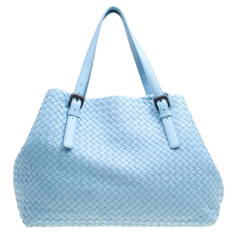 442cb831486f Bottega Veneta. Women s Blue Sky Intrecciato Nappa Leather Large Cesta Tote