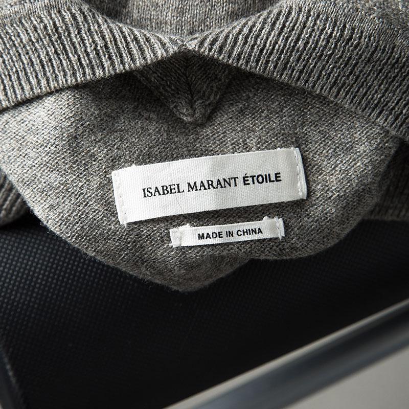 Isabel Marant Denim Etoile Melange Knit V Neck Sweater M in Grey (Grey)