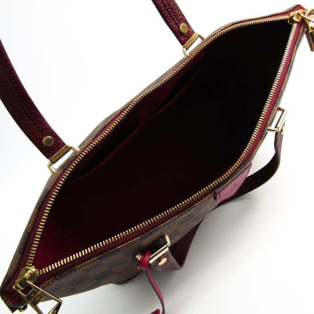 f27584ff1c1 Louis Vuitton Fuchsia Damier Ebene Canvas Hyde Park Bag in Brown - Lyst