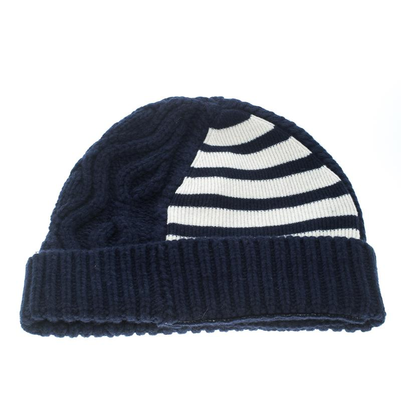 e7c333b2c4a Burberry Chunky Cable Knit Wool And Cashmere Beanie in Blue for Men ...
