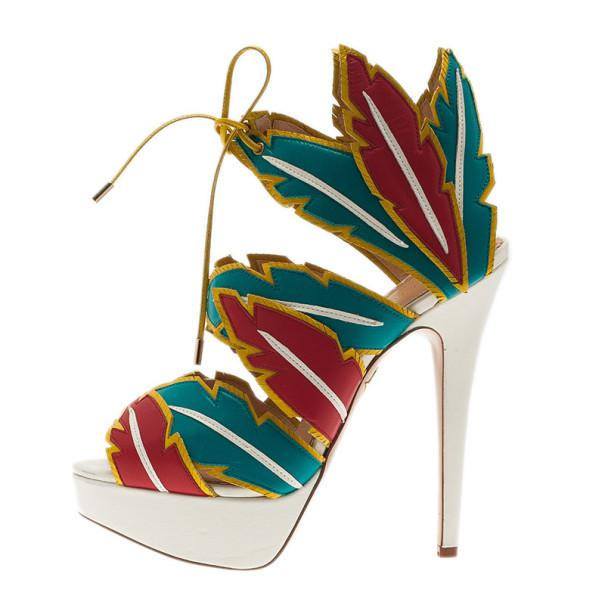 b4e76ffada6 Lyst - Charlotte Olympia Multicolor Leather Cherokee Platform Sandals
