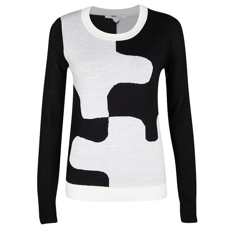 3b9ddb04f88 Diane Von Furstenberg Monochrome Wool Daphne Sweater S in White - Lyst