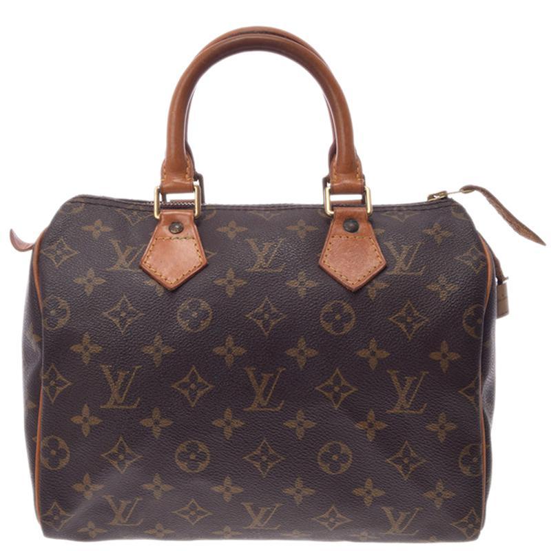 2eb38d6ef Lyst - Louis Vuitton Monogram Canvas Speedy 25 Bag in Brown