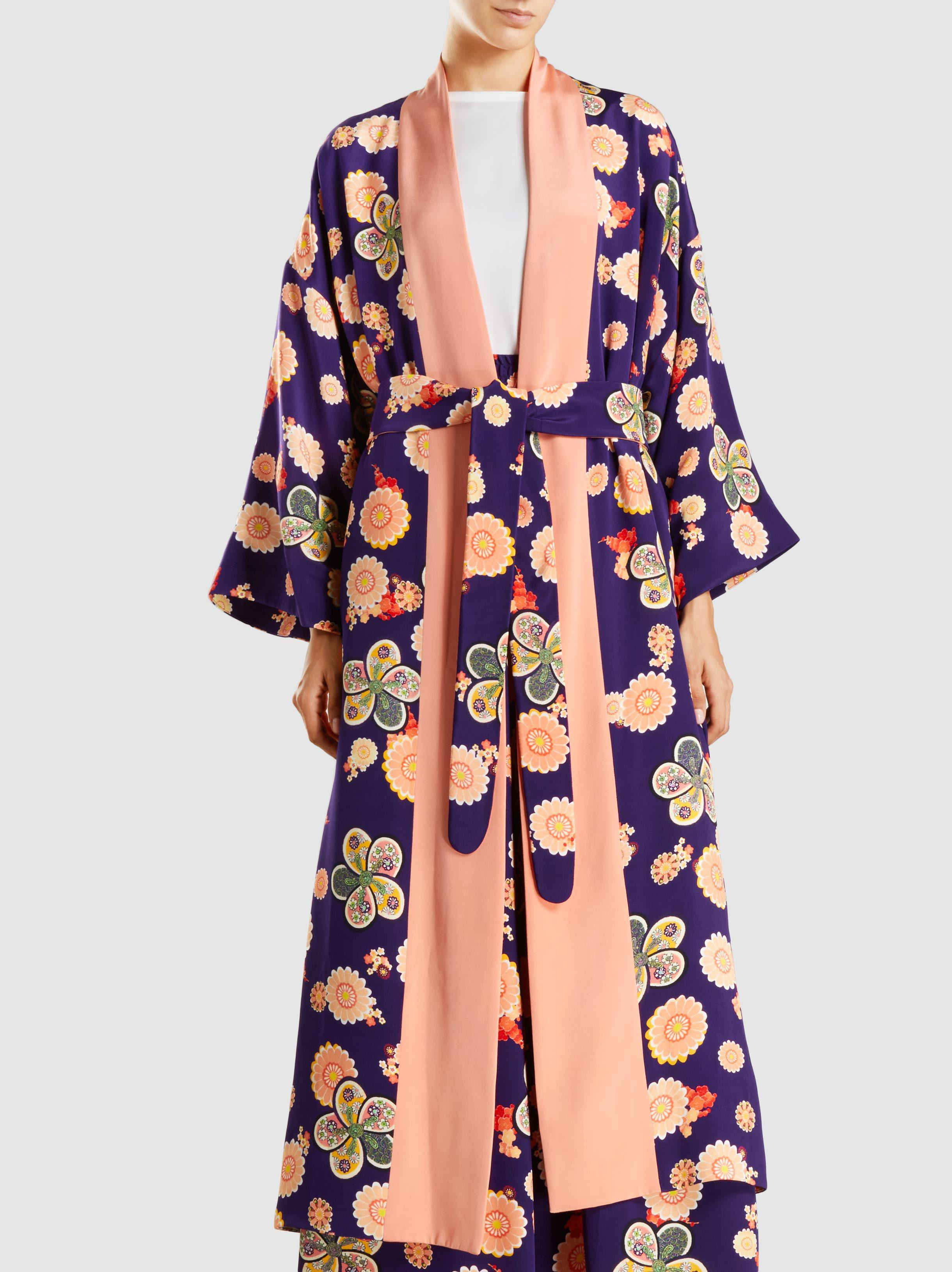 Hatsumomo Floral-Print Silk Kimono Jacket Racil Clearance 100% Authentic Shopping Online Sale Online MBwgtsxezE