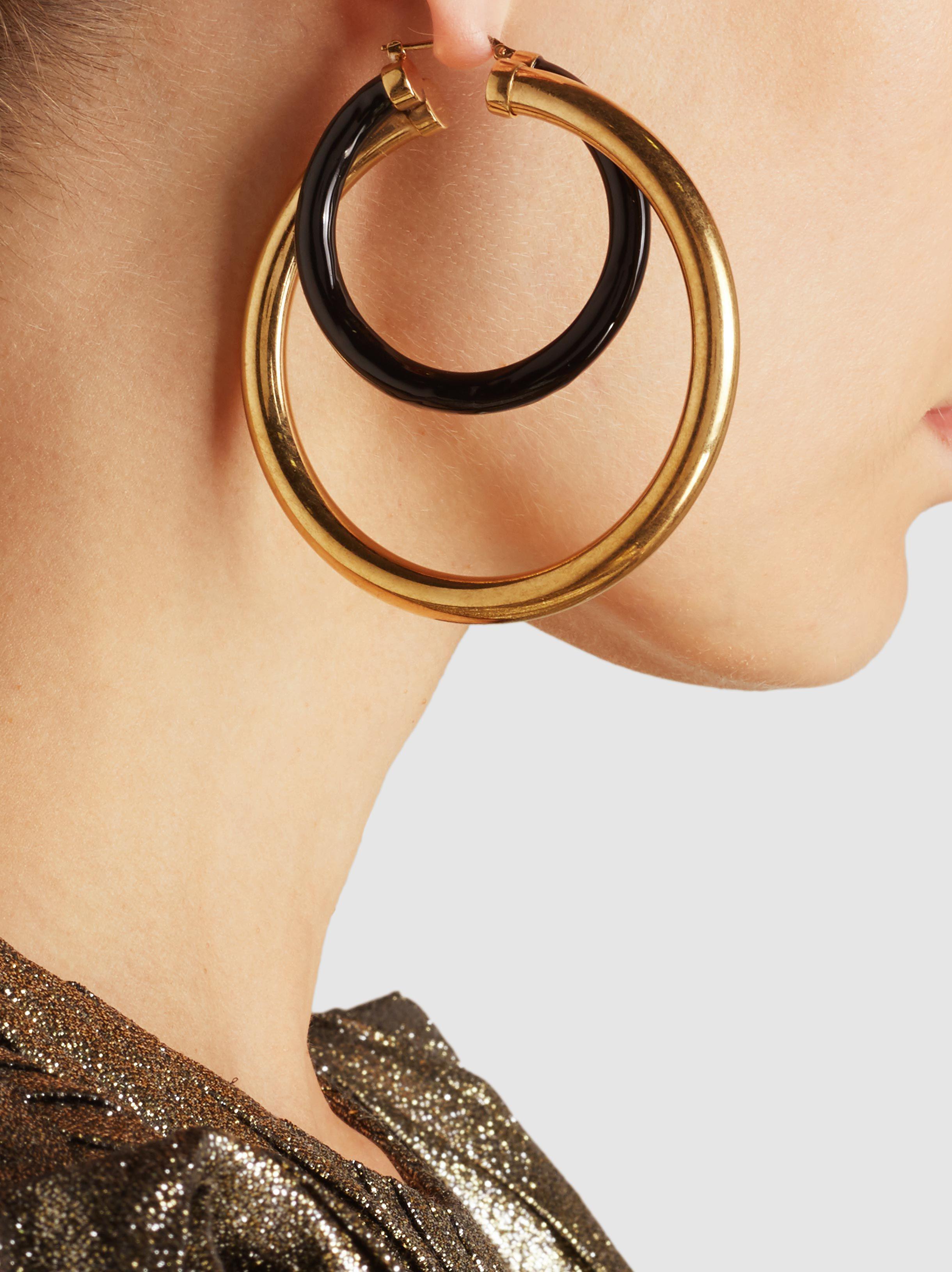 Peter Pilotto Large double hoop earrings Xk10hc