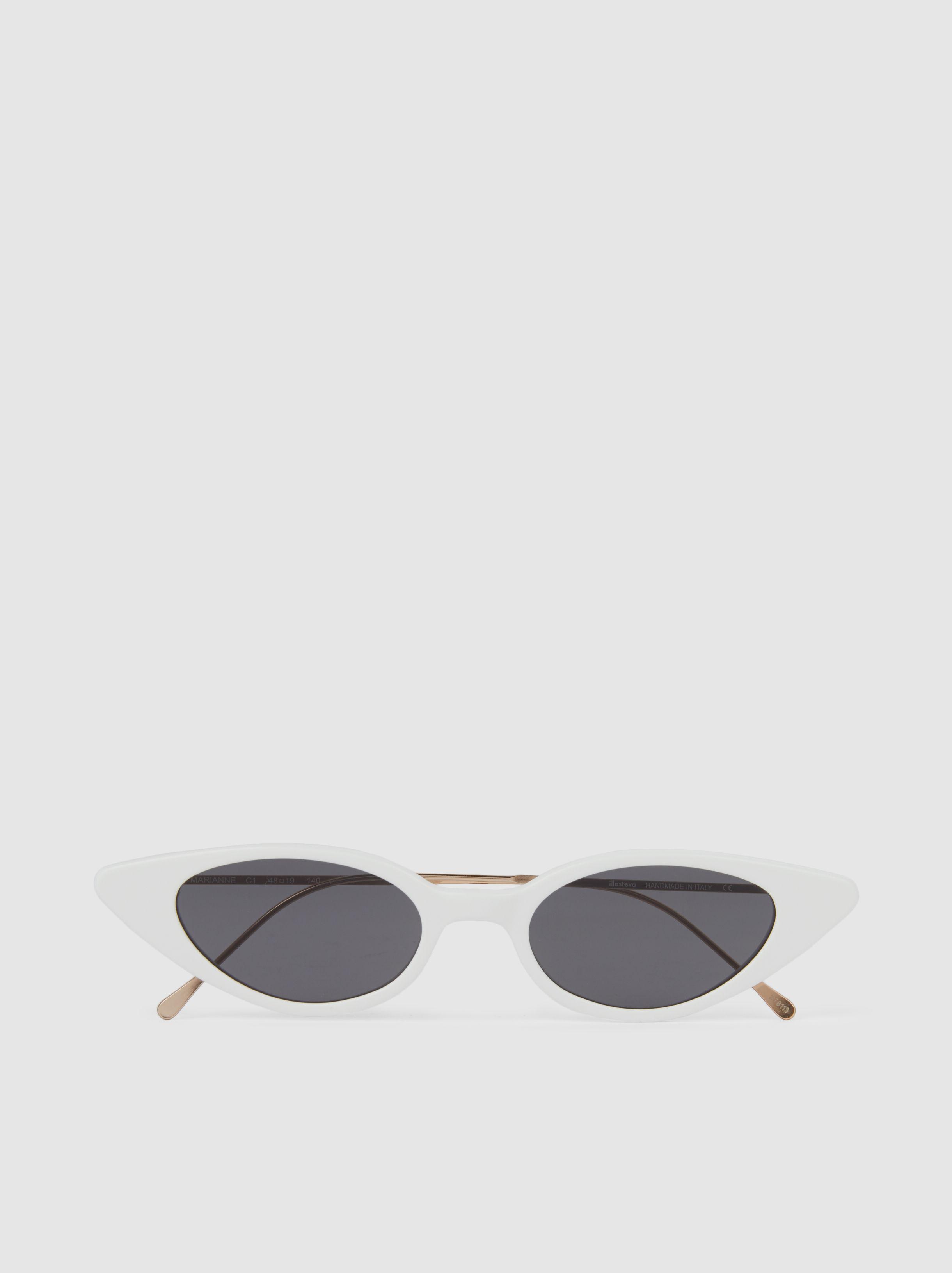 4ae21dab82f Illesteva Marianne Sunglasses in White - Save 14% - Lyst