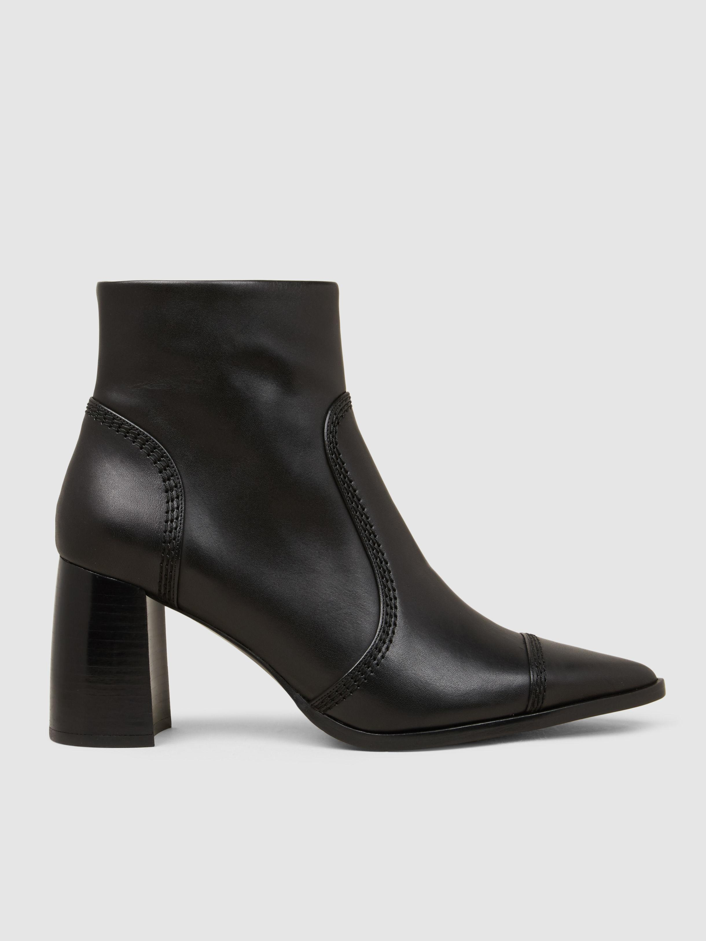 Joseph 90MM LEATHER ANKLE BOOTS Jo4B4