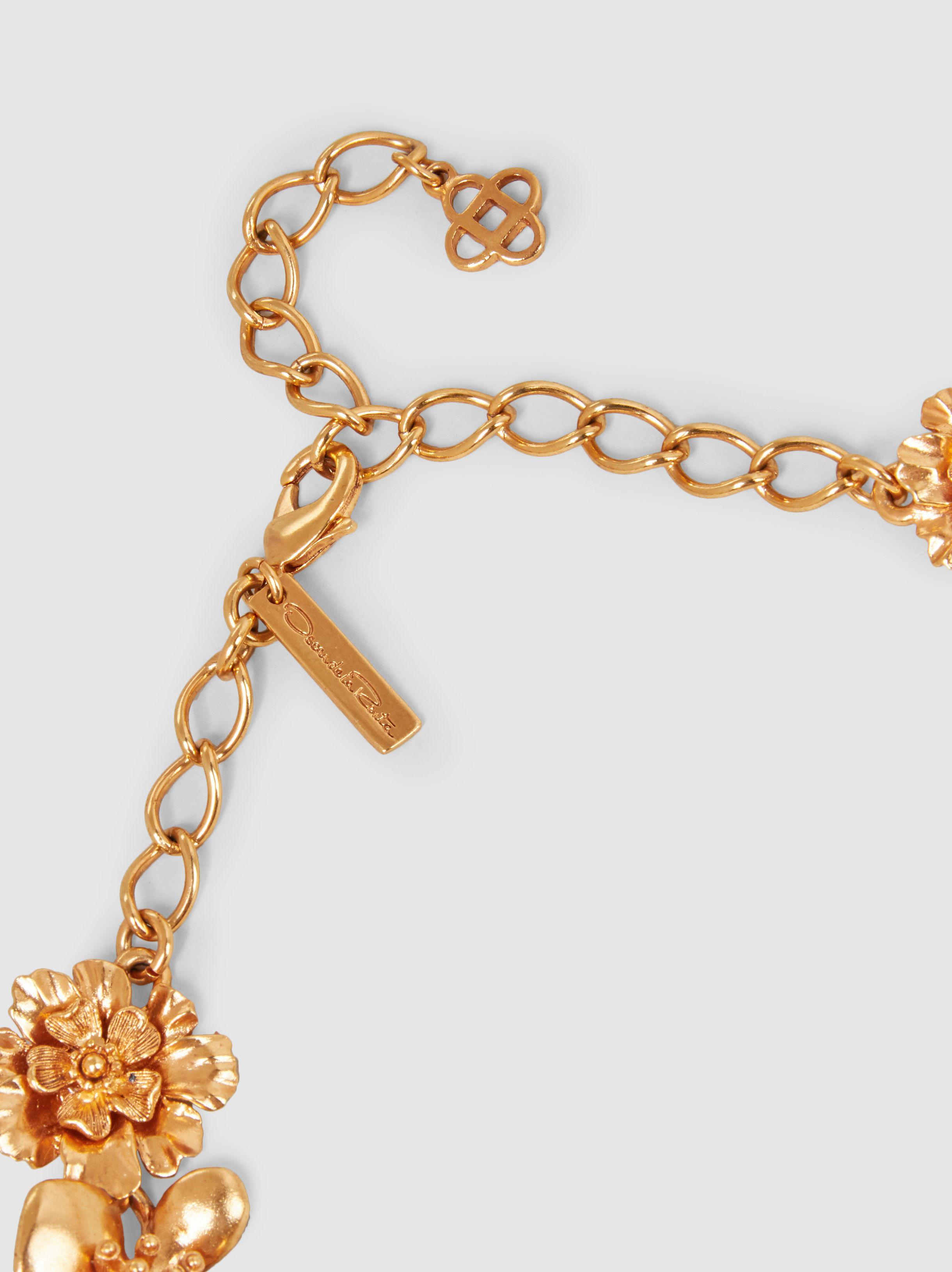 Oscar De La Renta Blooming Bold Flower Gold-Tone Necklace WfyeiUiLlx