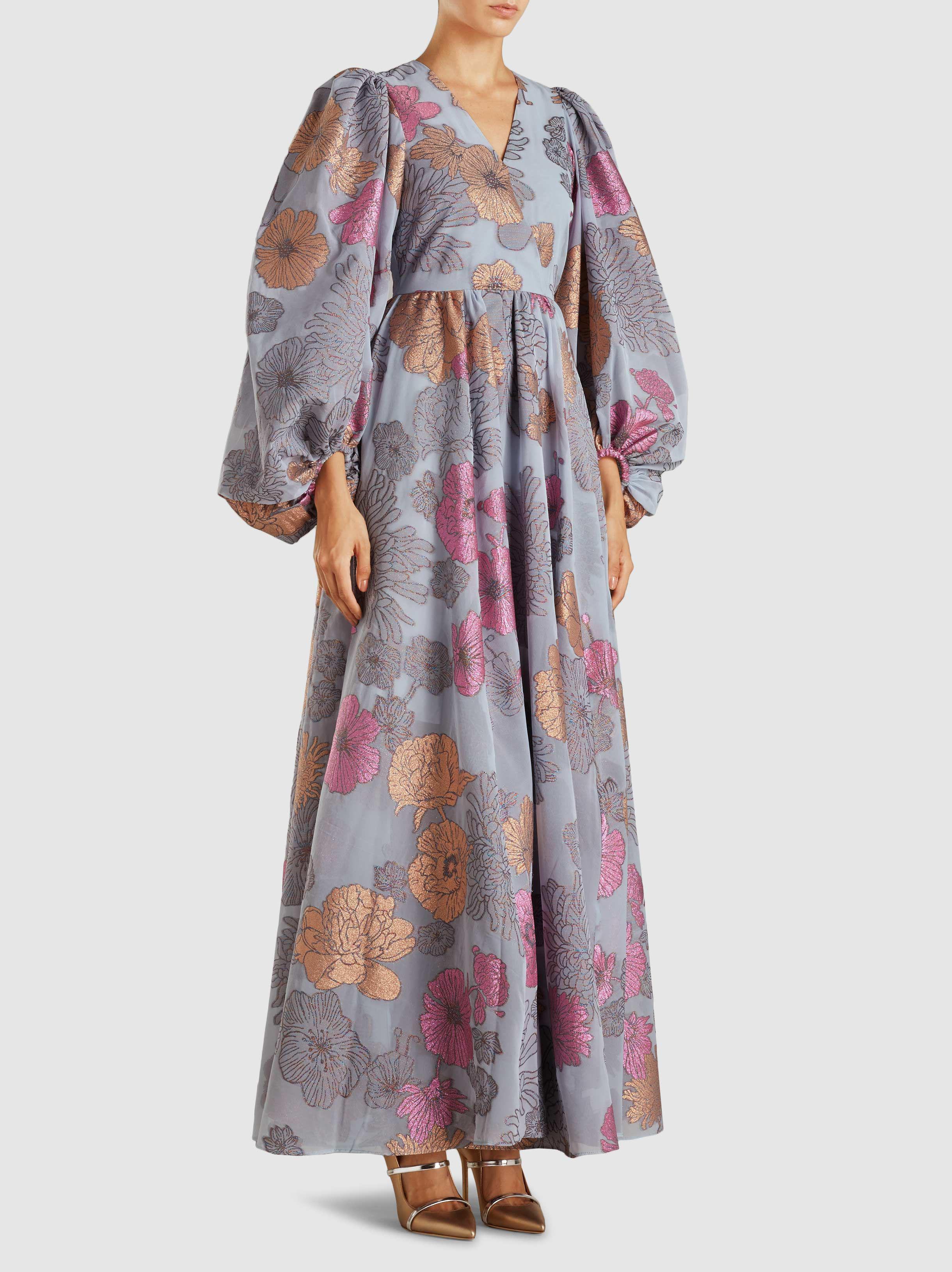 Baba Floral-Jacquard Maxi Dress Stine Goya Jivc4G