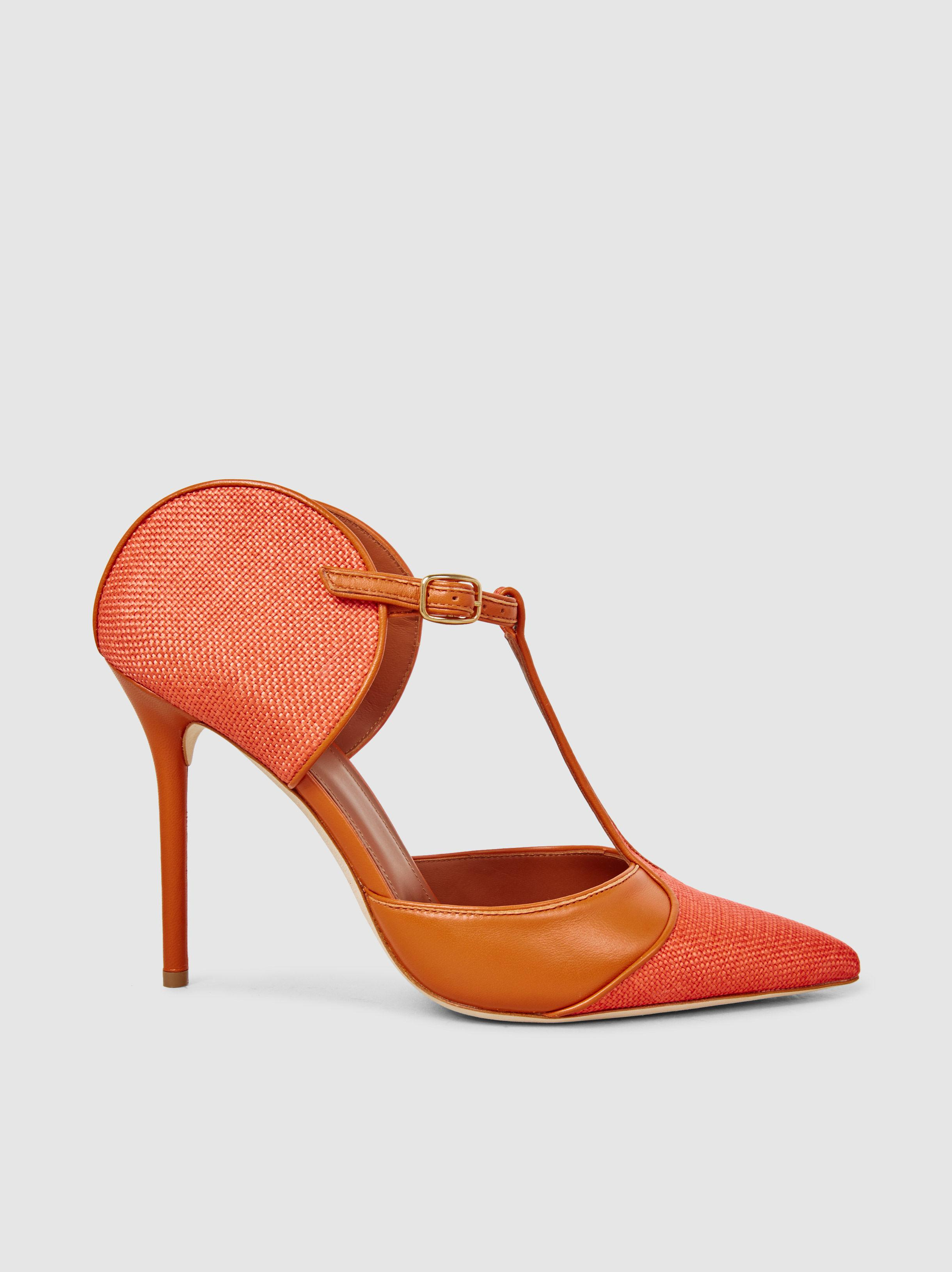 Imogen Leather-Trimmed Raffia Pumps Malone Souliers IHuGbqxRhu
