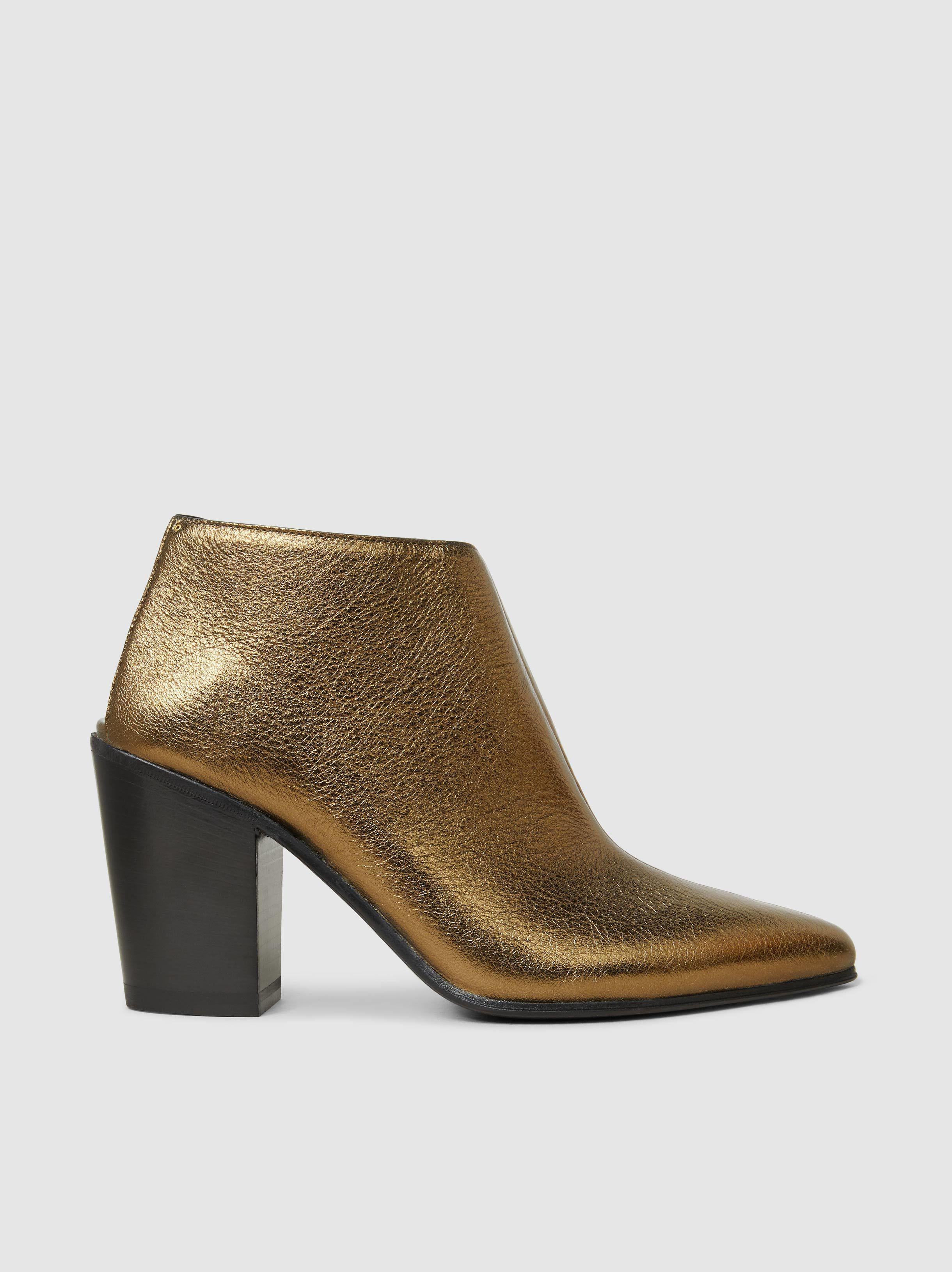 ALUMNAE Textured-Leather Ankle Boots oTtFyk6