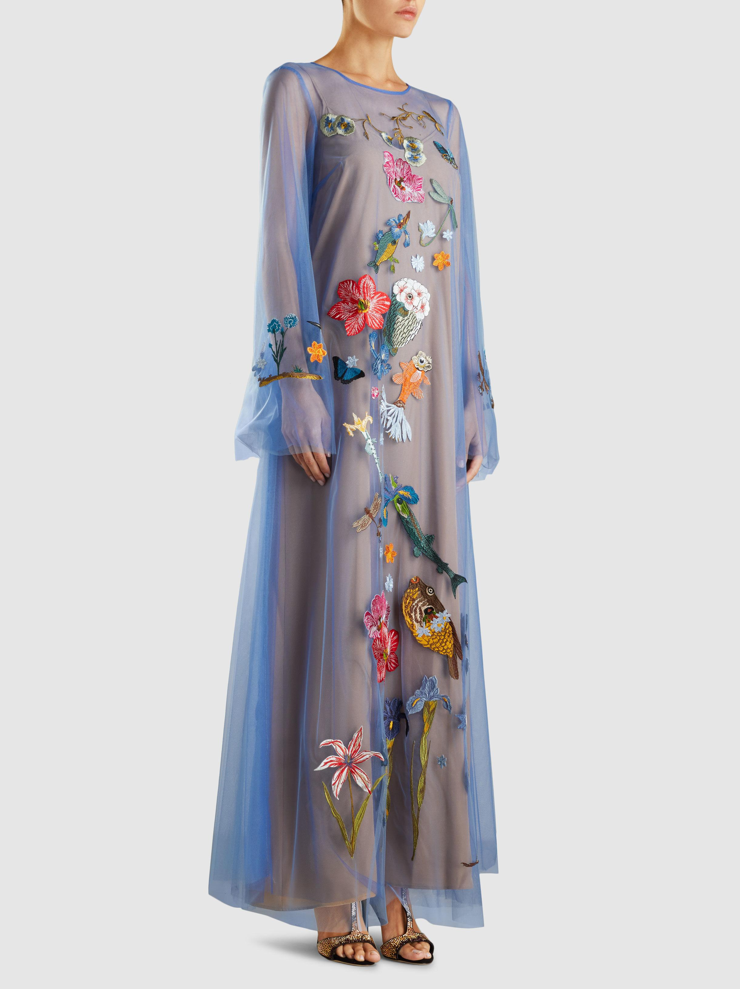 Aldib Embroidered Long Sleeve Dress Vivetta mD5aHV