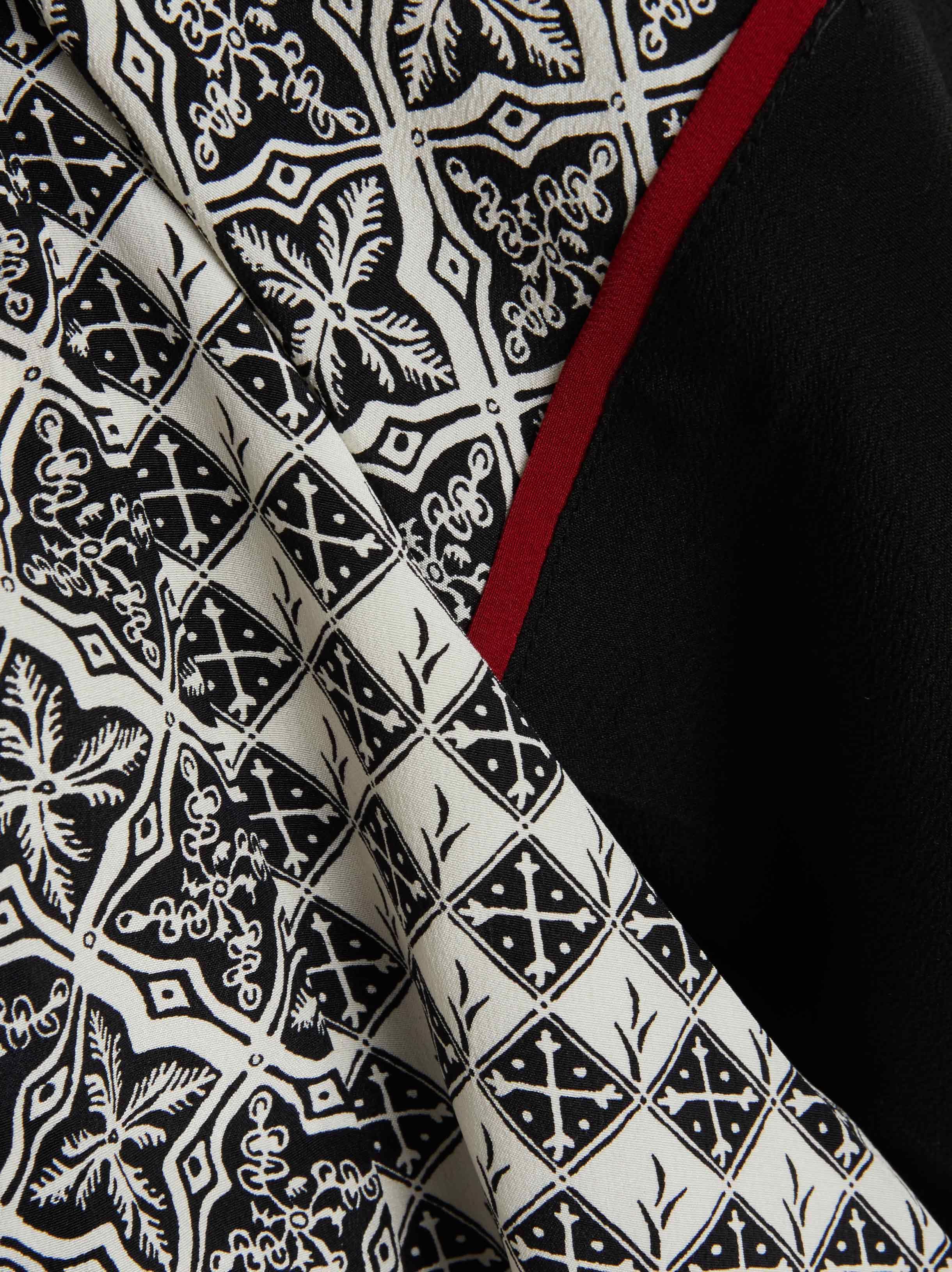 8f872948e06 Talitha Printed Silk Kimono Jacket in Black - Lyst