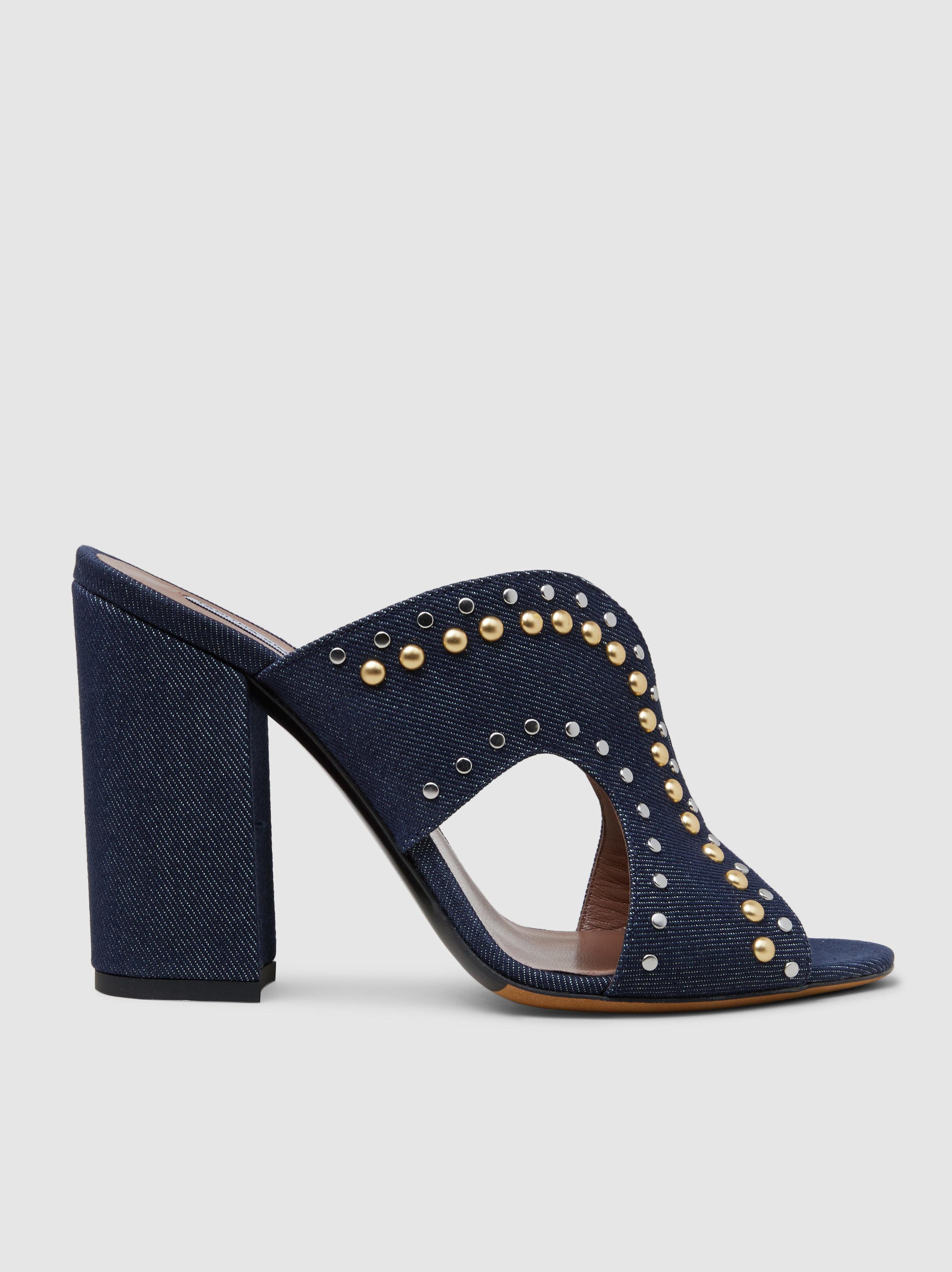 Tabitha Simmons Celia Studded Denim Sandals fKJAzJi