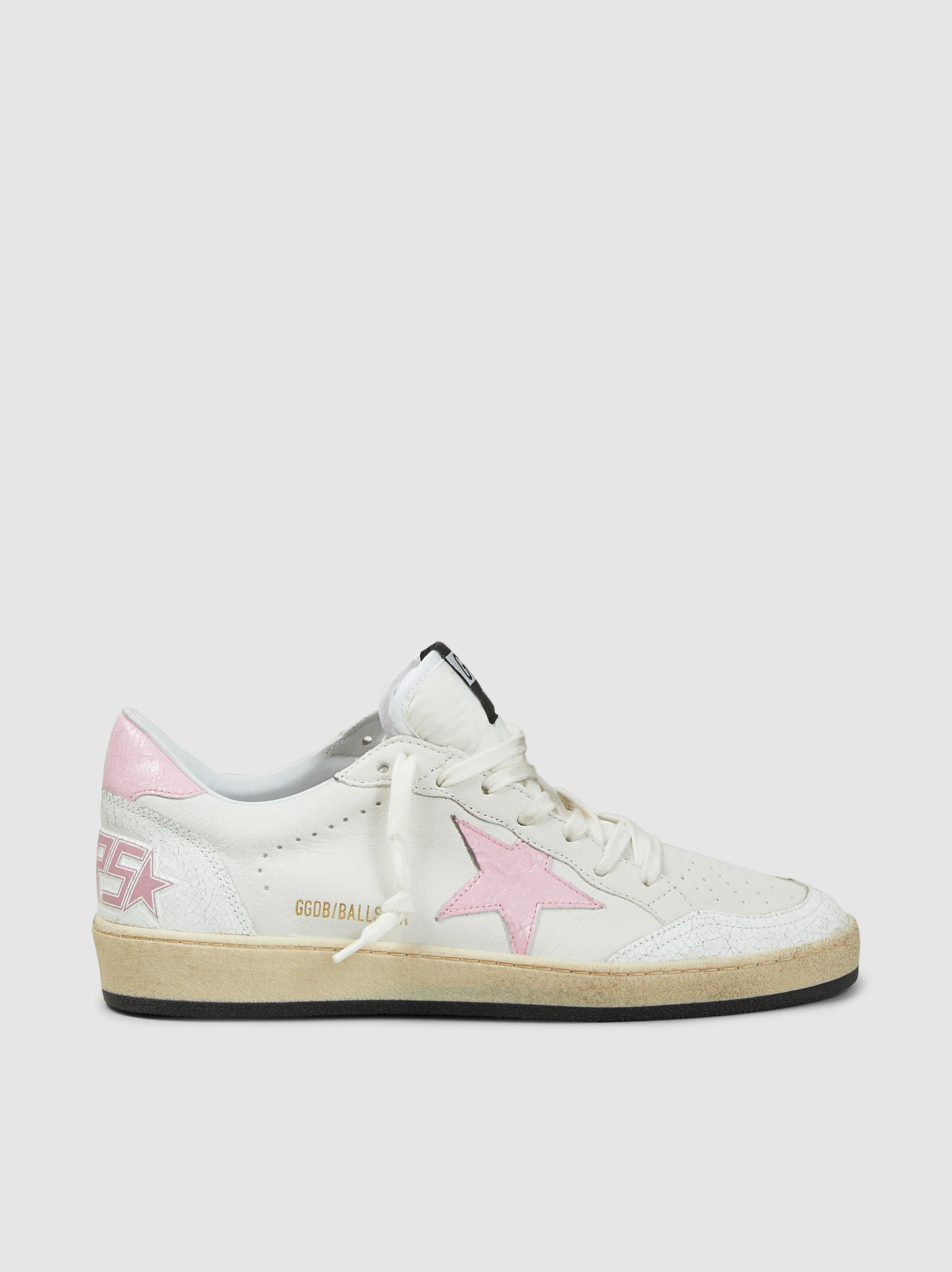 ff0eba2cf470d Lyst - Golden Goose Deluxe Brand Low-top Ball Star Sneakers in White