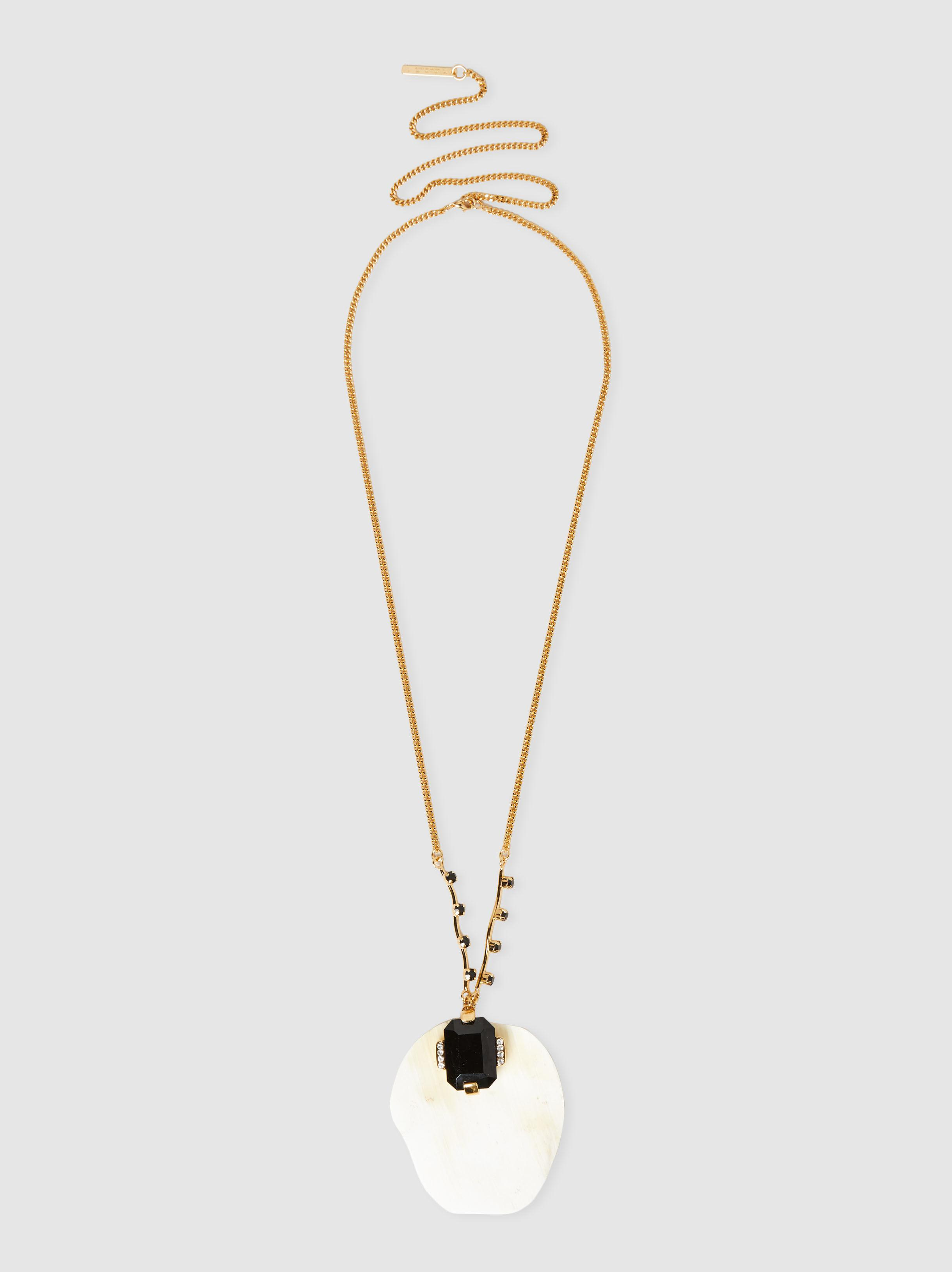 Marni geometric shapes double necklace - Metallic