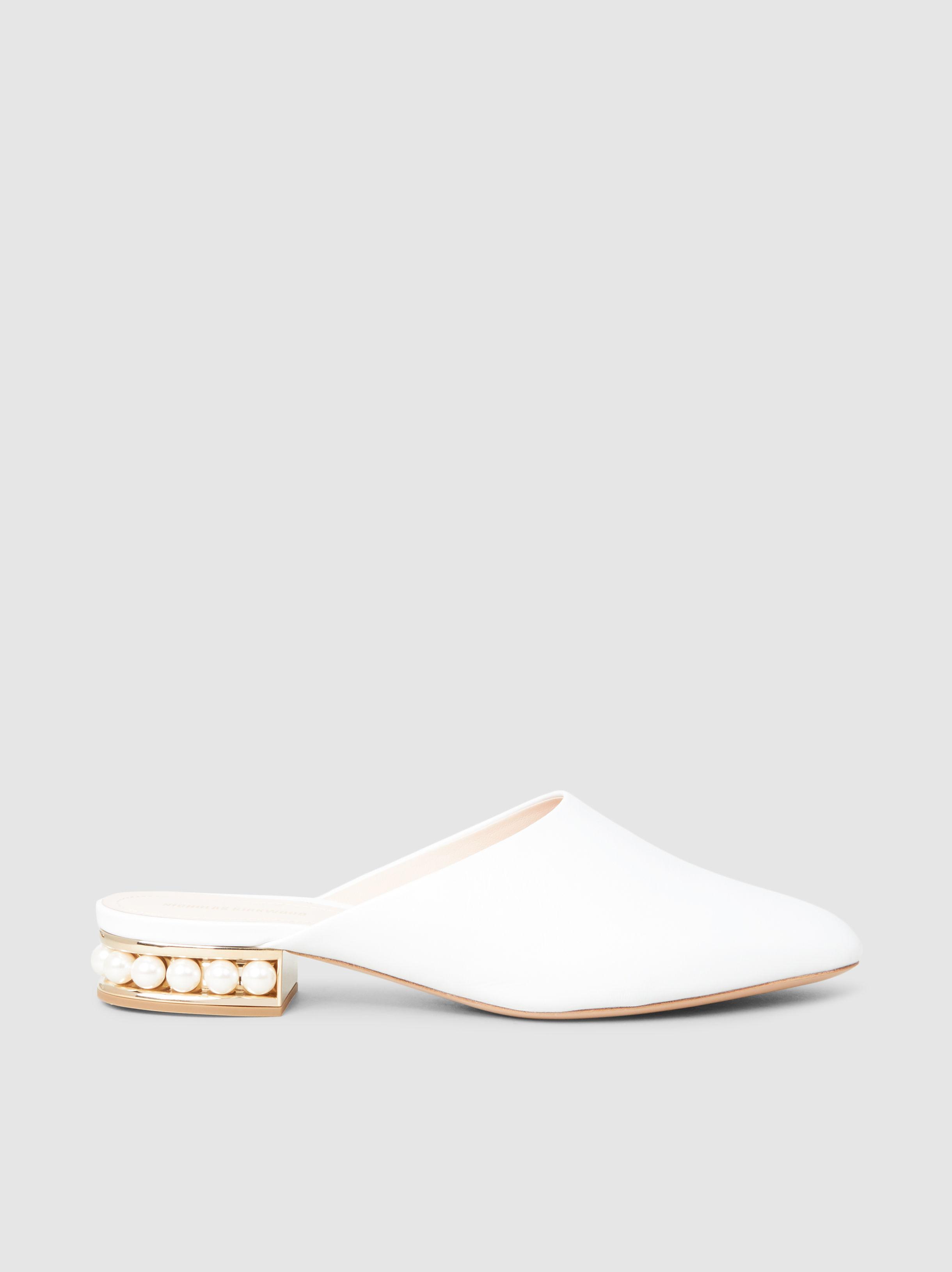 Casati Faux Pearl-Embellished Leather Slippers Nicholas Kirkwood 0ZTI3vO5