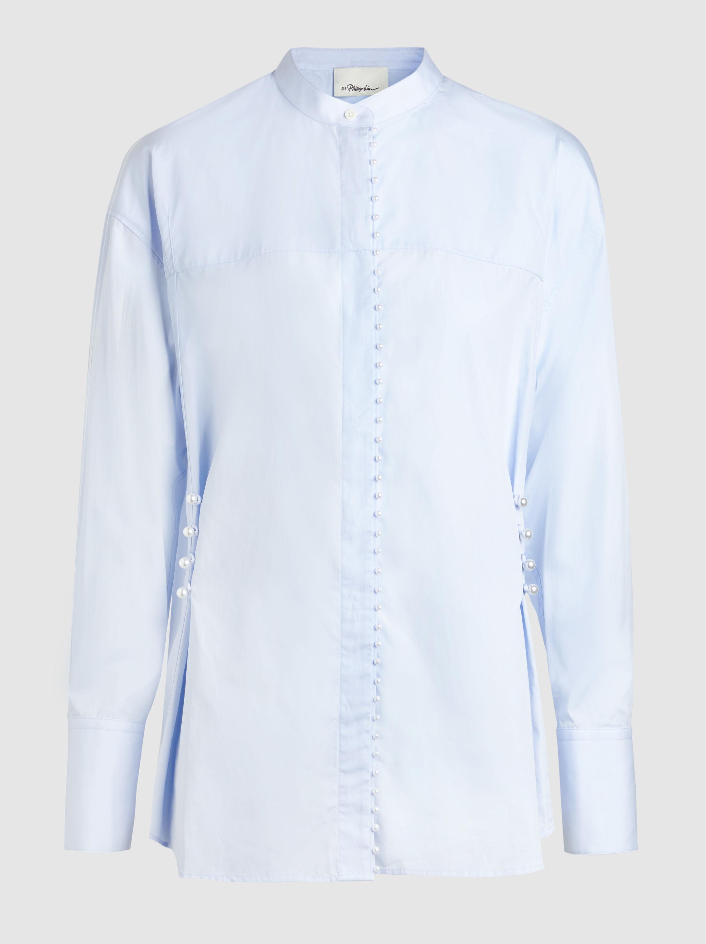 3.1 Phillip Lim Woman Voile-paneled Crepe Blouse White Size 0 3.1 Phillip Lim Classic Cheap Online kZMFe