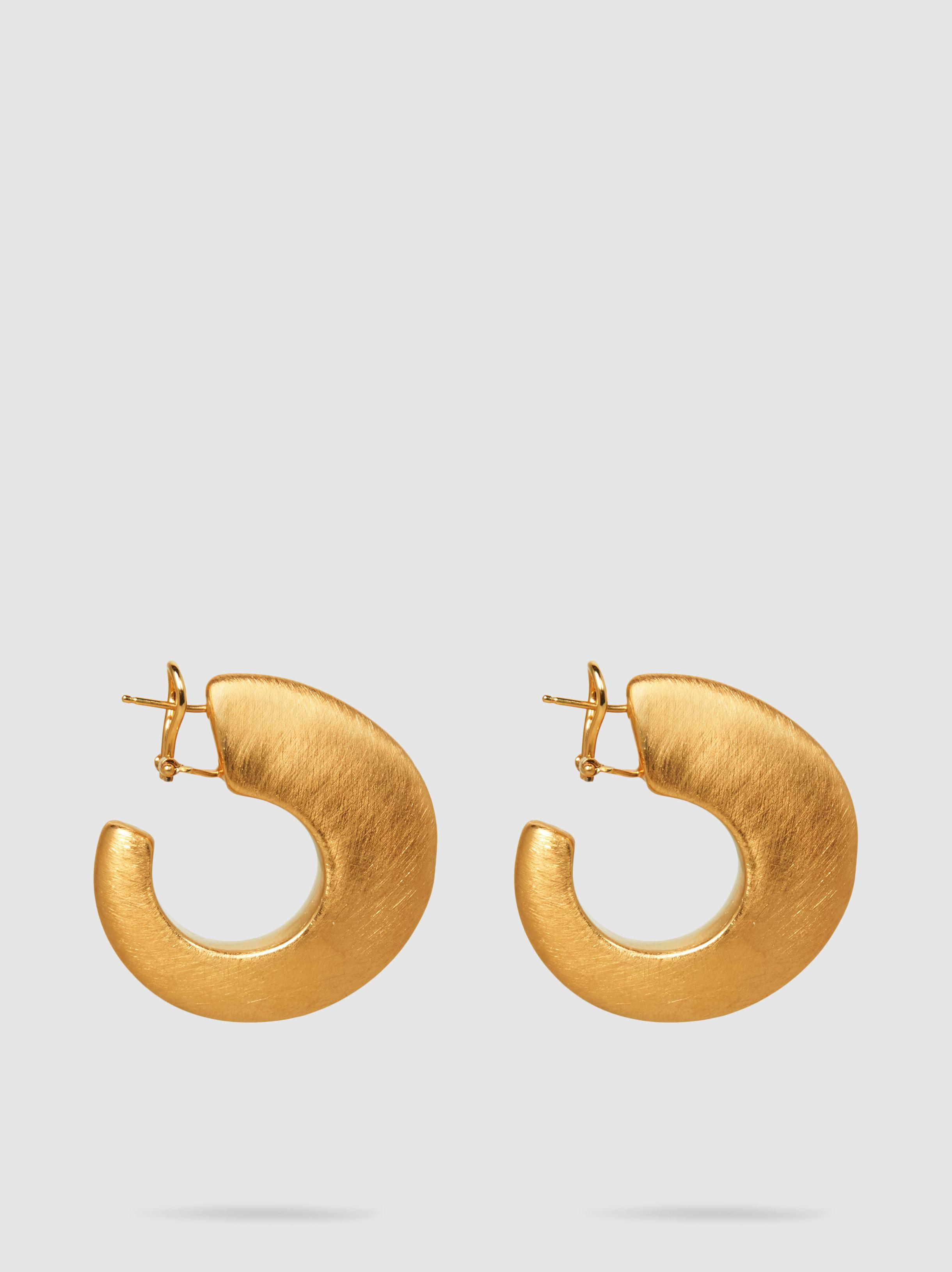 Maison Rabih Kayrouz Women S Metallic Brushed Gold Tone Hoop Earrings