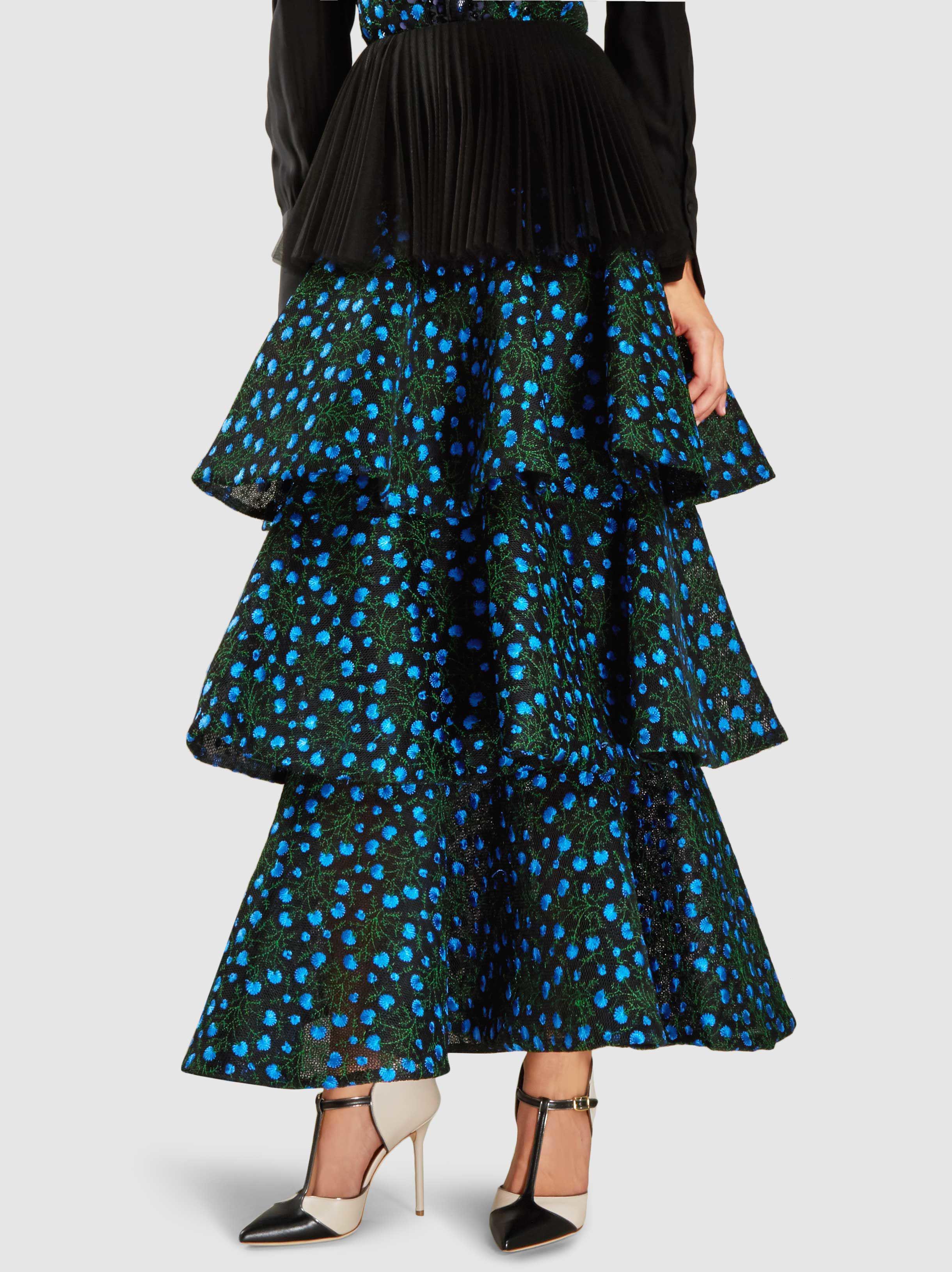 Tulle Layered Maxi Skirt Razan Alazzouni 9IfTEl
