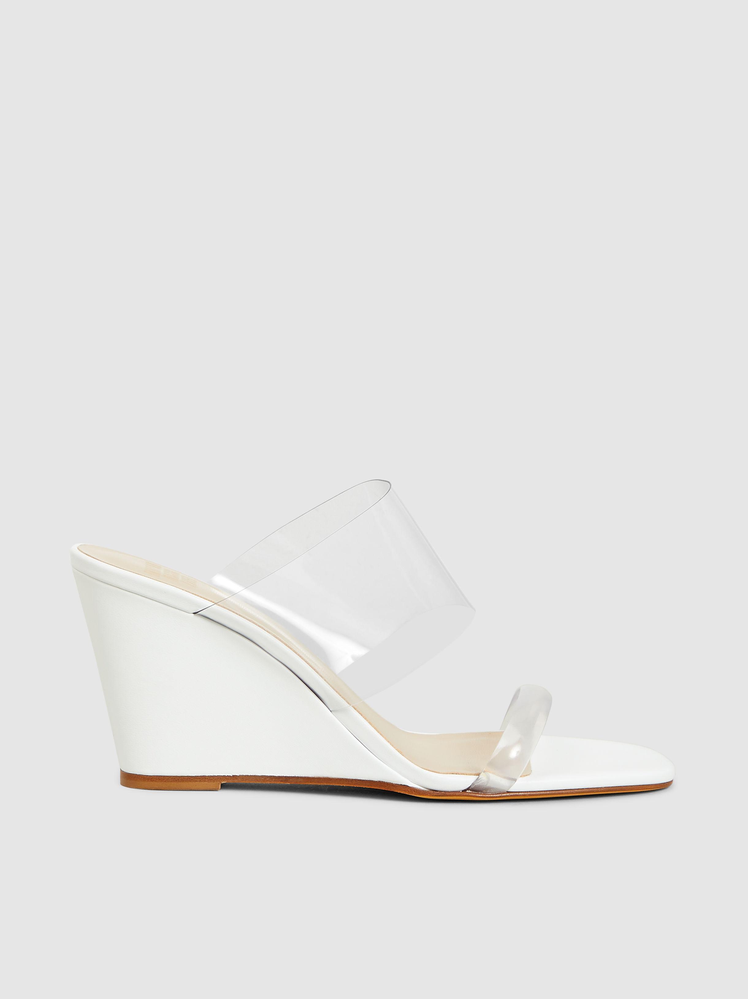 c5542bcbda9 Maryam Nassir Zadeh. Women s White Olympia Patent-leather And Pvc Wedge  Sandals