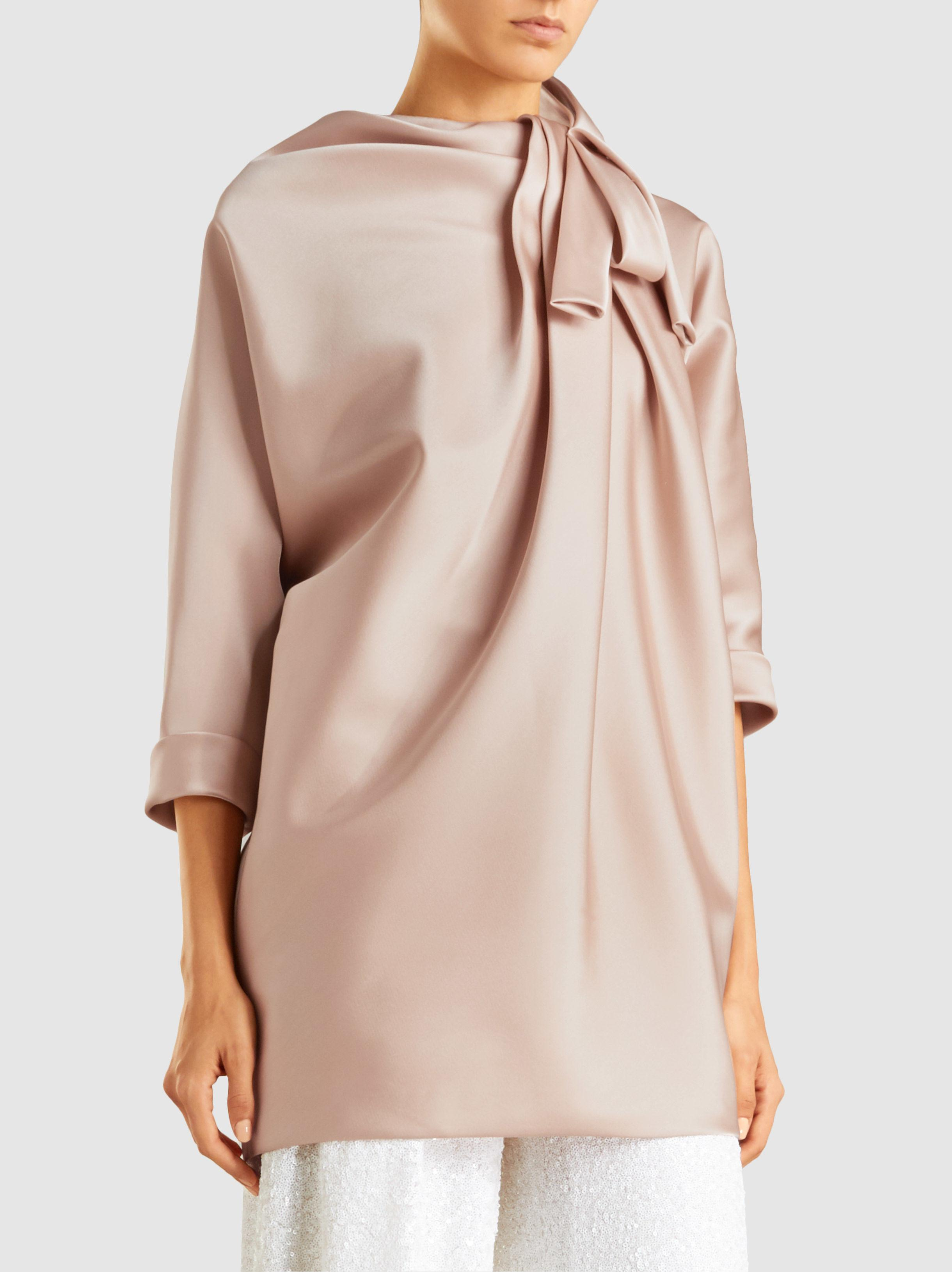 Dolman Sleeve Tunic With Bow Detail Marc Jacobs