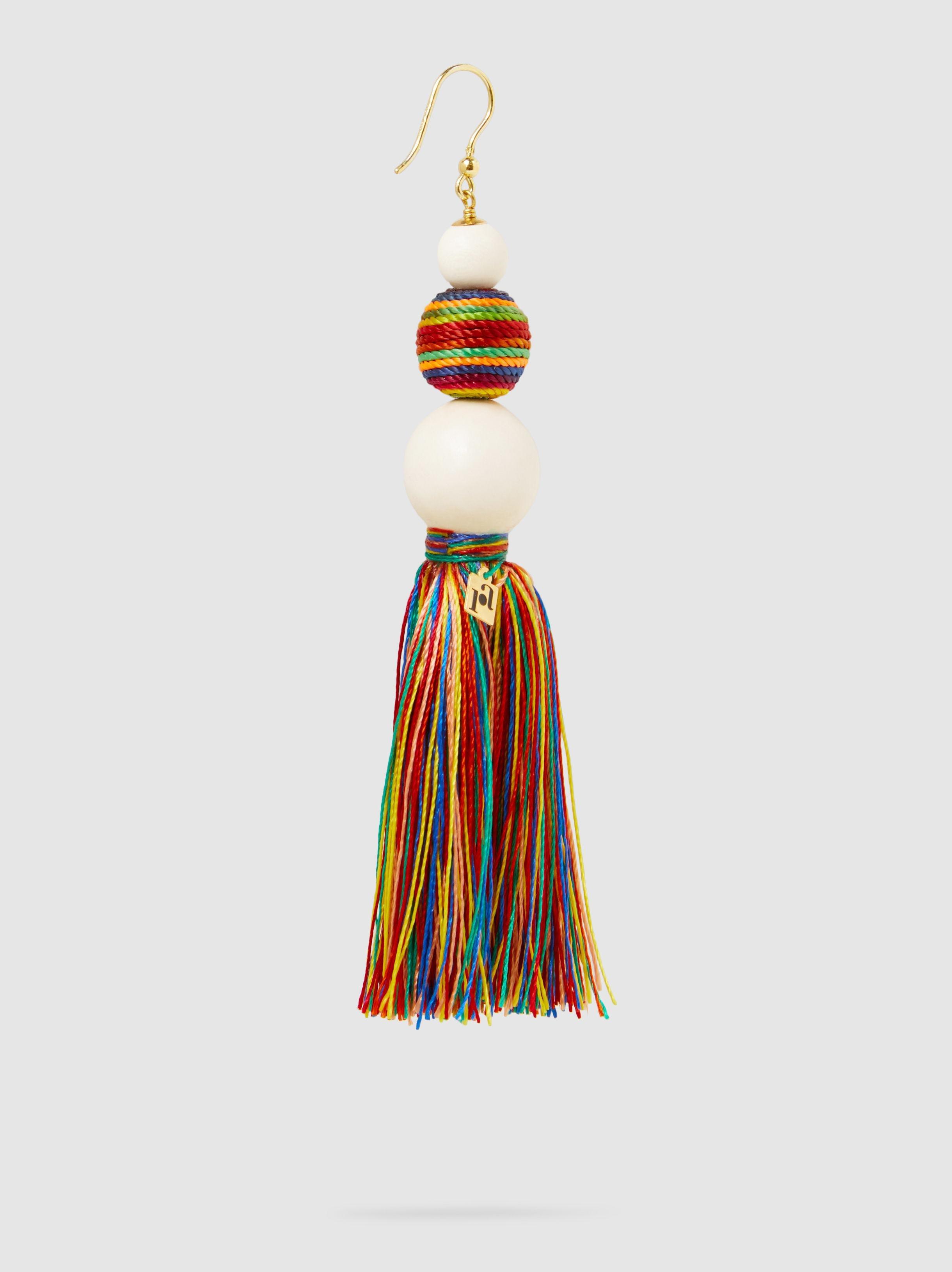Arlecchino Beaded Tassel Earrings Rosantica fBucv