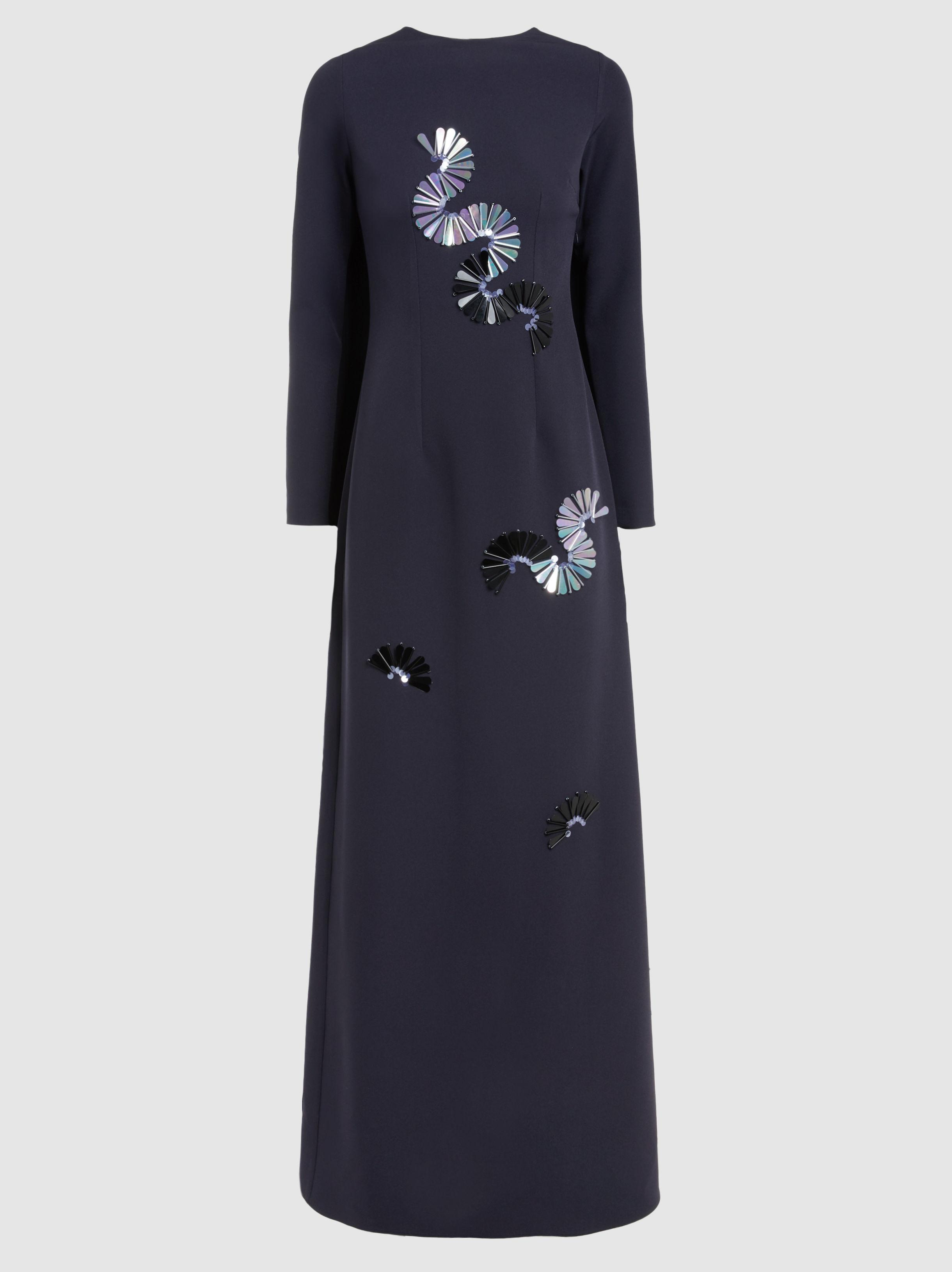 Great Deals Sale Online Huge Surprise Cheap Online Midnight Embellished Cape Gown SAFiYAA Shop Cheap Price Browse npM52E5wyY