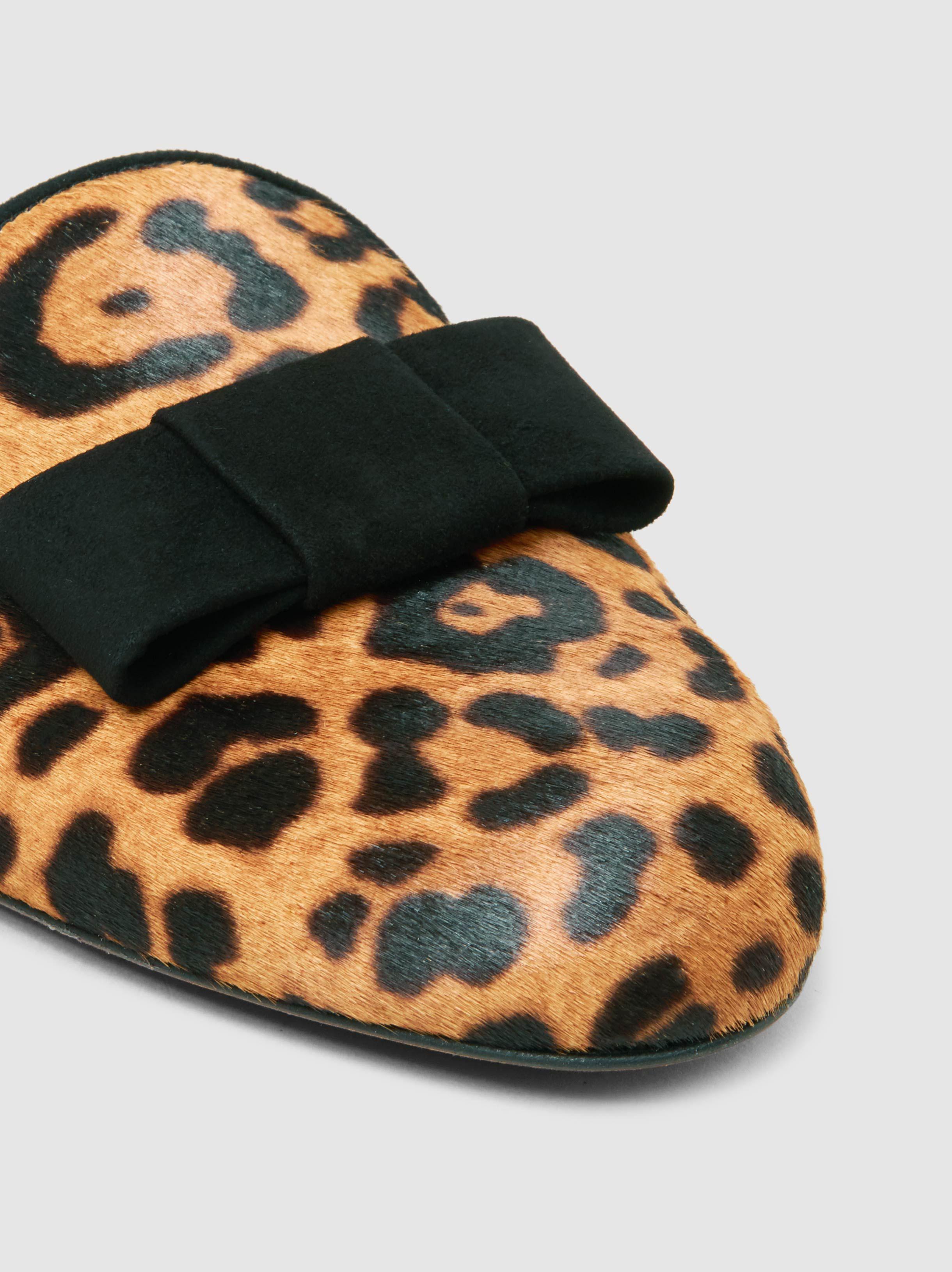 Masha Leopard-Print Calf Hair Slippers Tabitha Simmons u0bZ5