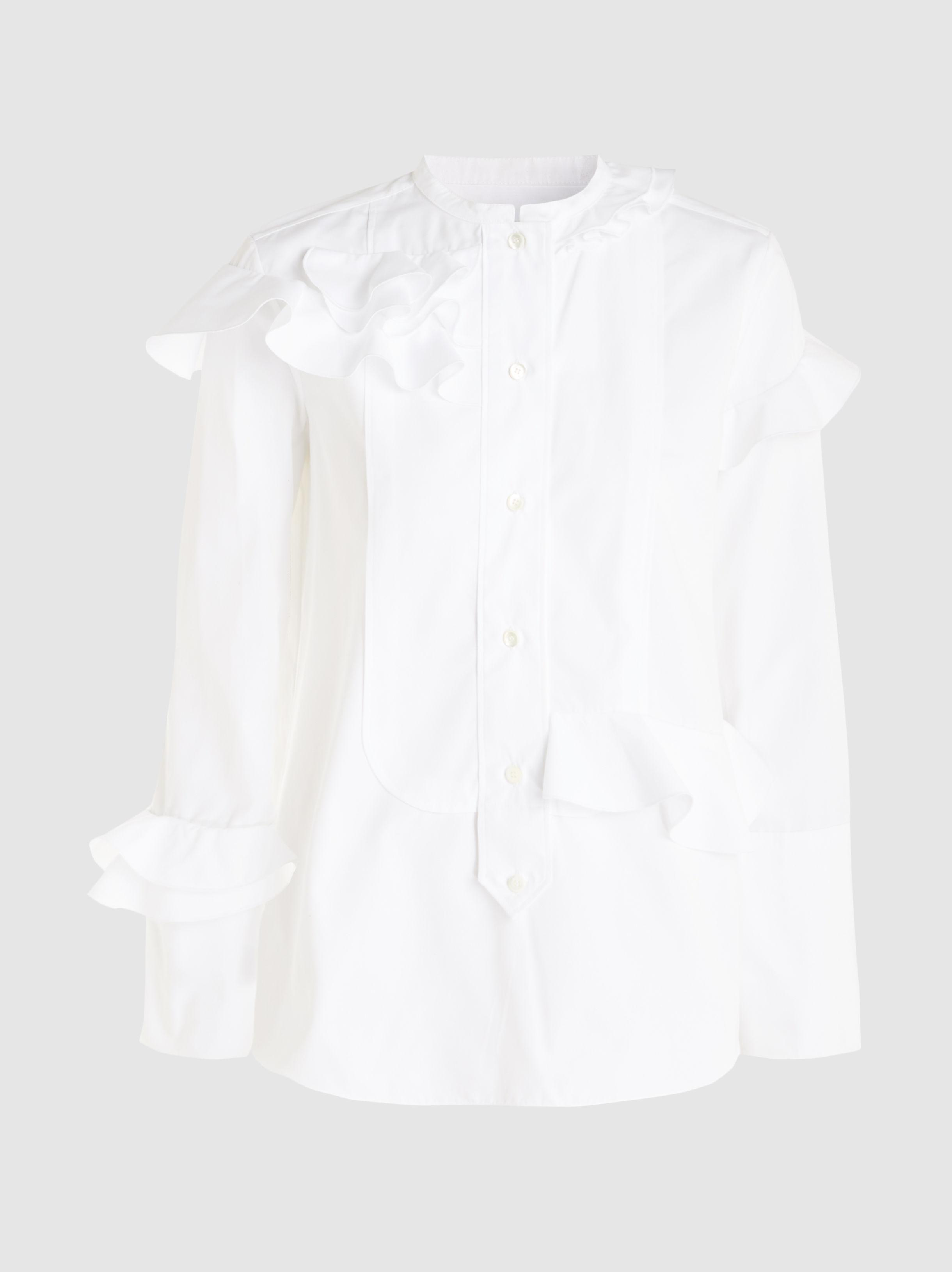 Discounts Cheap Price Looking For Cheap Price Ruffled Cotton-Poplin Shirt Maison Rabih Kayrouz YkjRR9
