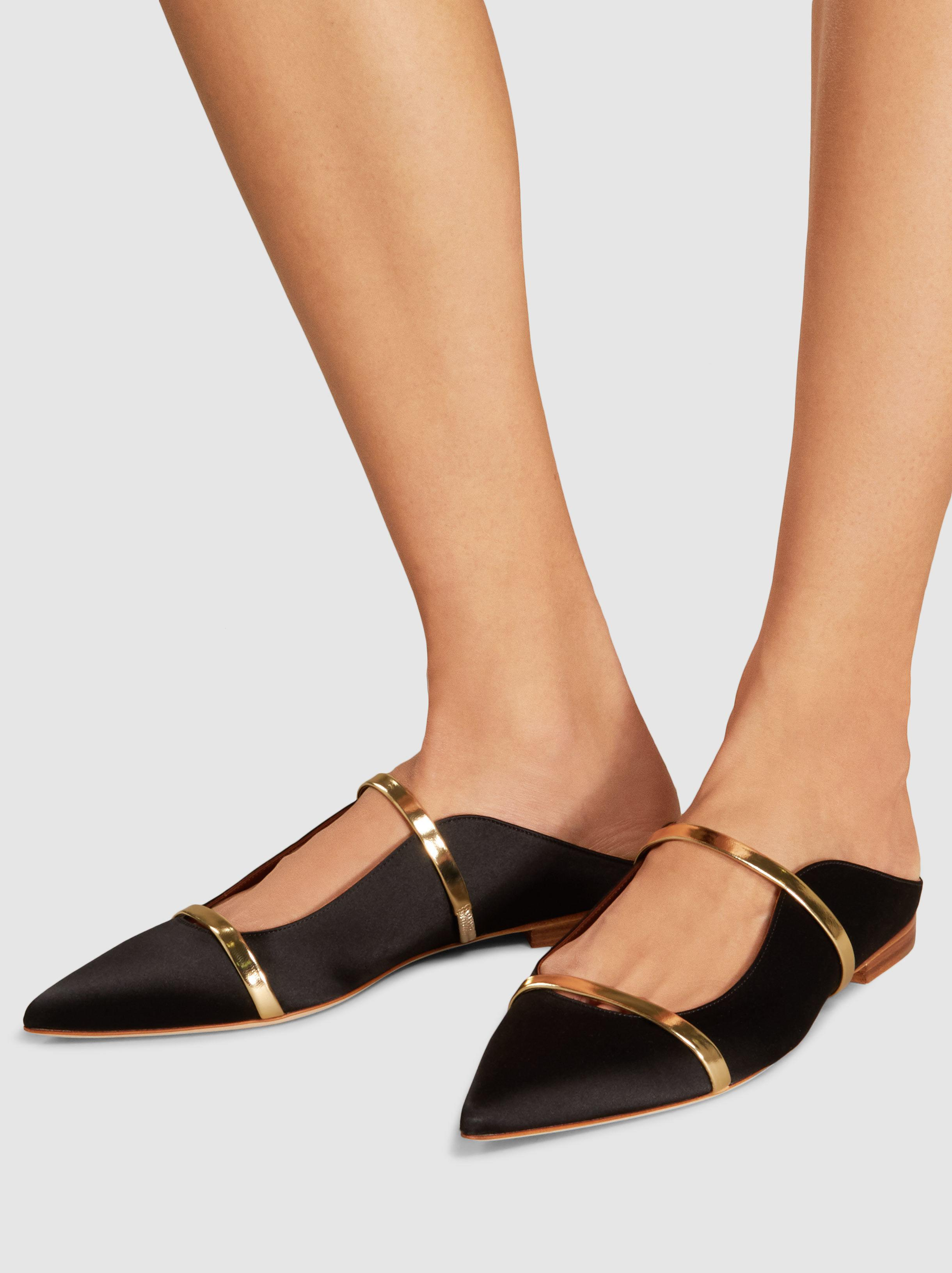 MALONE SOULIERS Maureen Satin Slippers 7qyOo