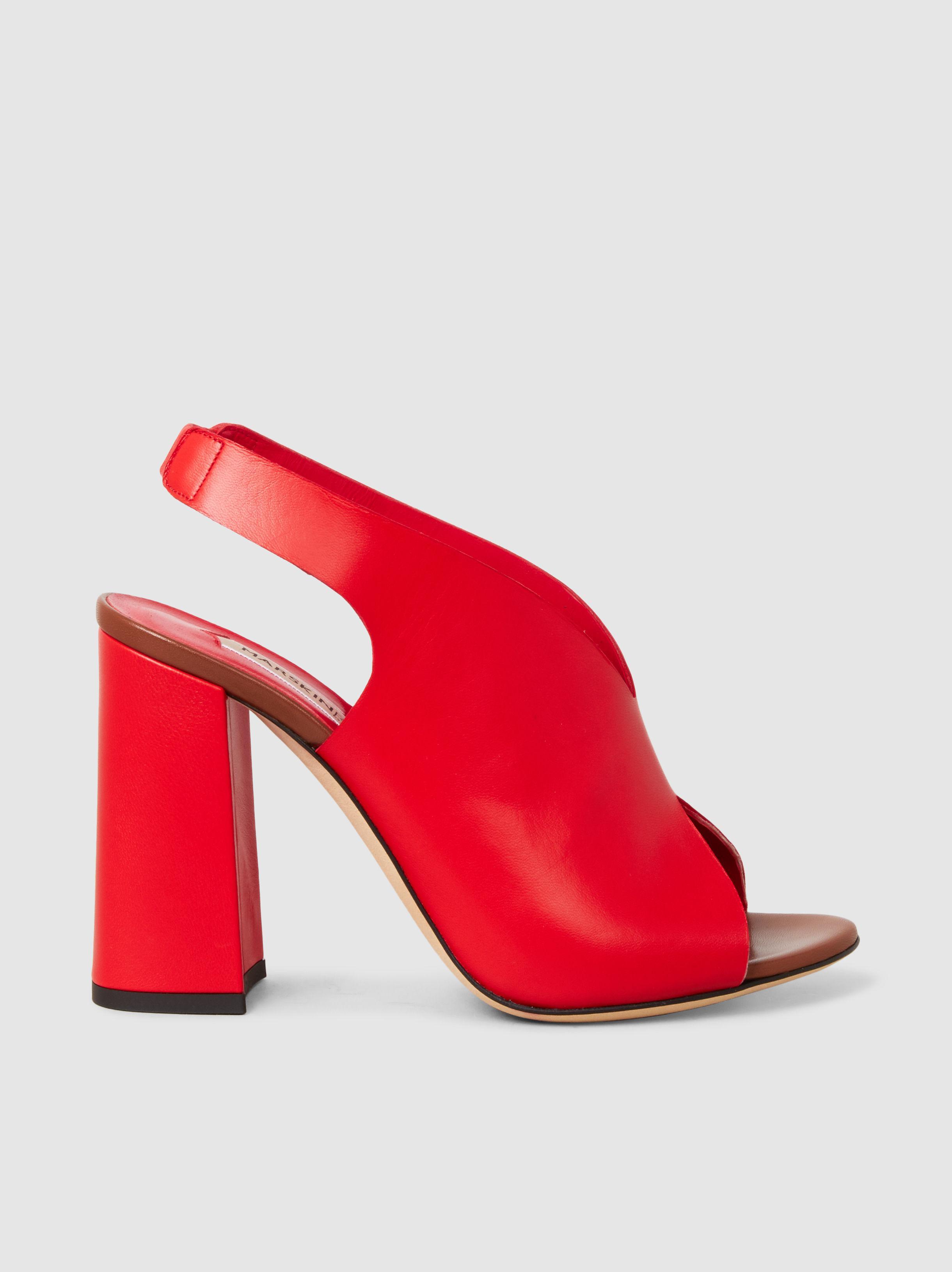 Mattie Leather Block Heel Peep-Toe Sandals Marskinryyppy BKu0kJ