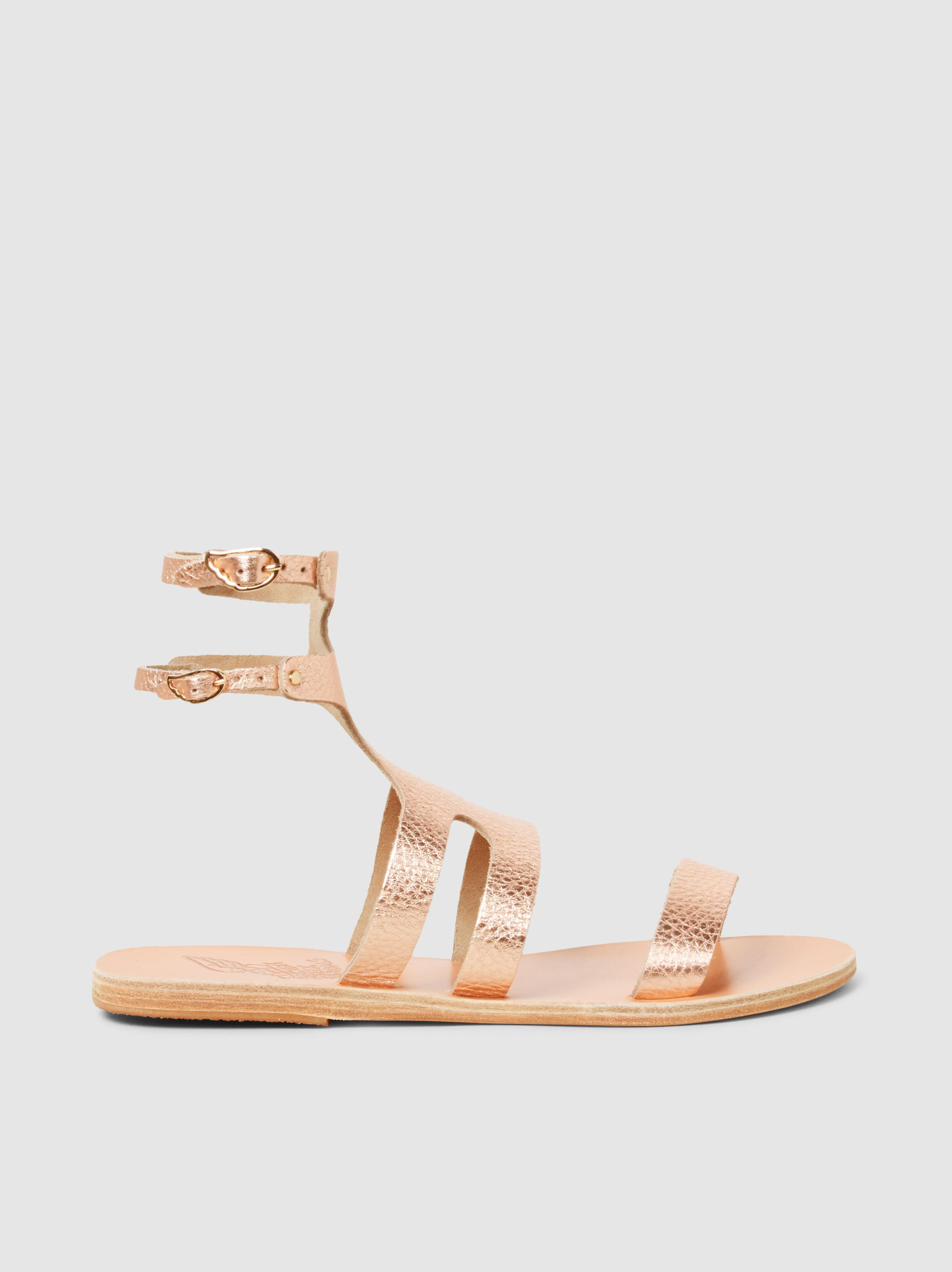 Apteros Metallic Crosta Leather Sandals Ancient Greek Sandals Cheap Sale Shop For y1JX8FVsLo
