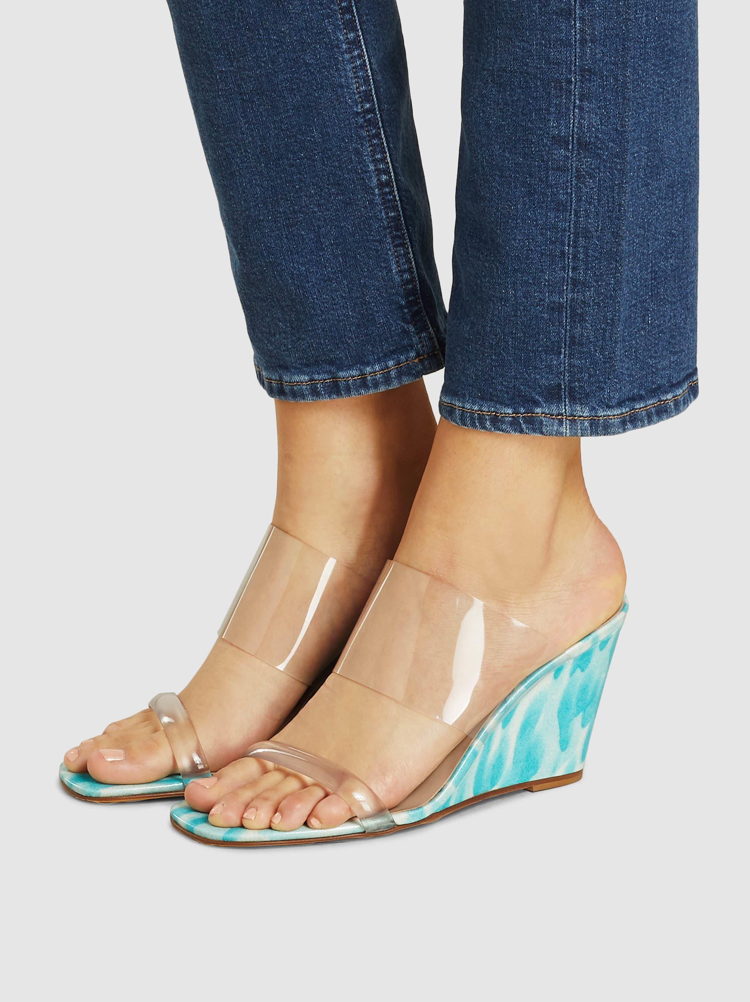 5e7982d3ecc Maryam Nassir Zadeh - Blue Olympia Wedge Sandals - Lyst. View fullscreen