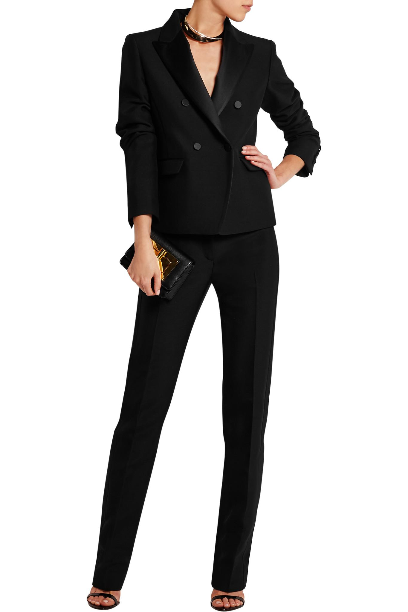 80e73776103 Tom Ford Satin-trimmed Wool And Silk-blend Tuxedo Jacket in Black - Lyst