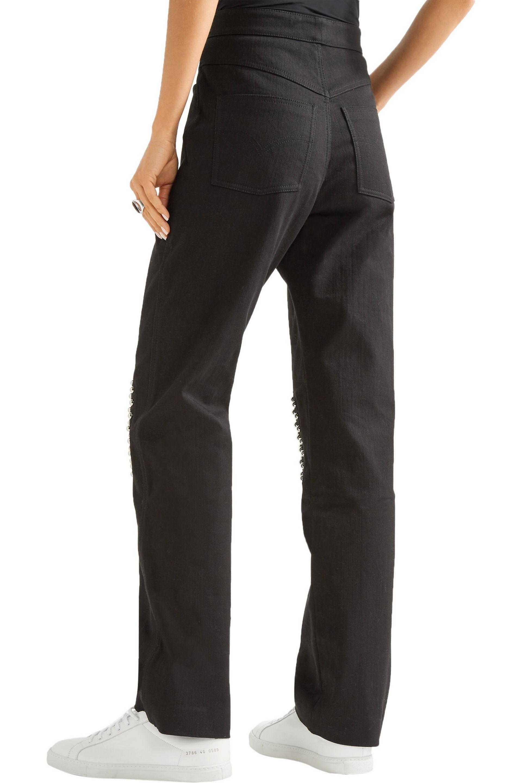 JW Anderson Denim Studded Boyfriend Jeans in Black