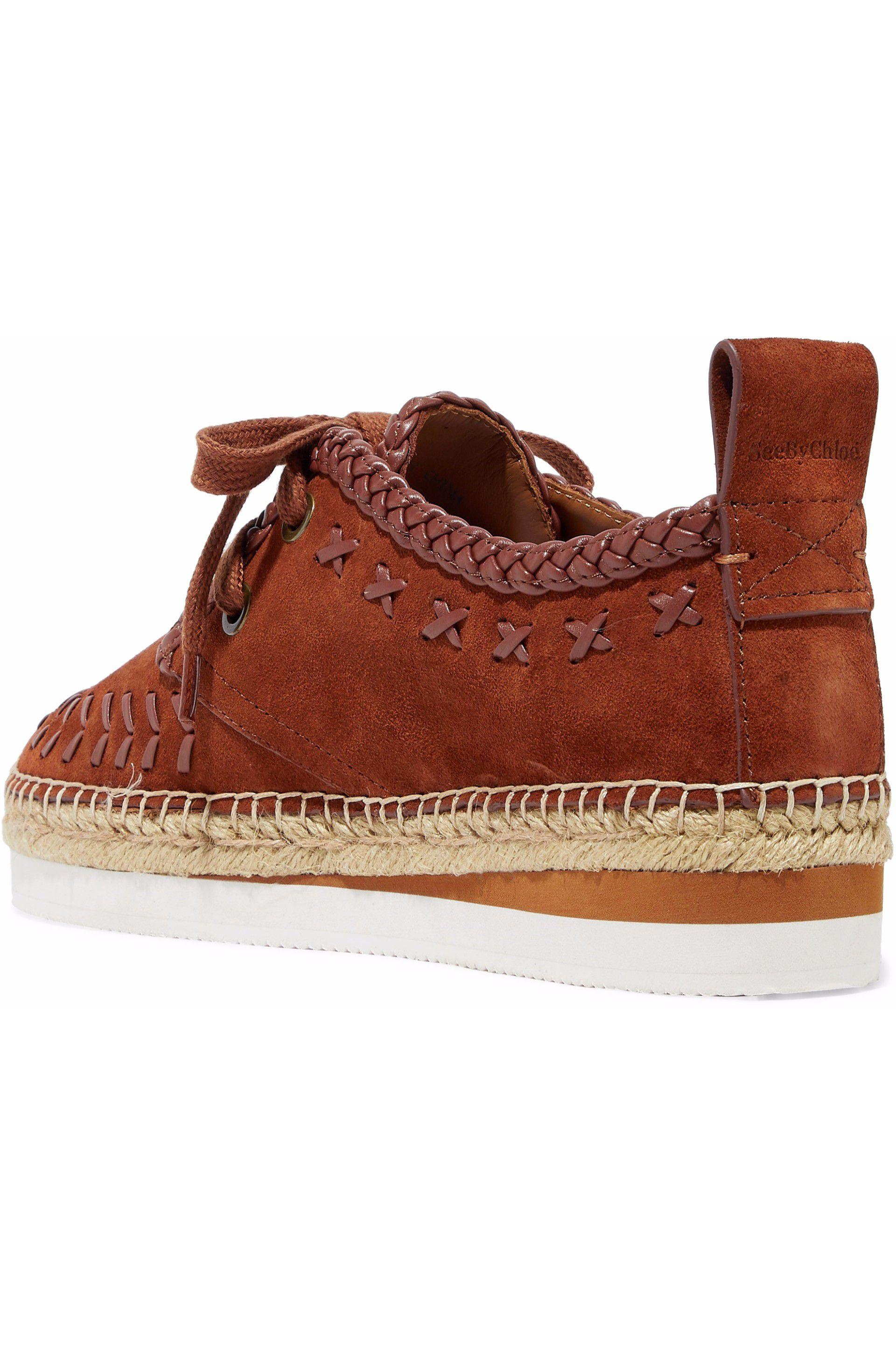 b47a6b4d2e See By Chloé See By Chloé Woman Leather-trimmed Suede Platform ...