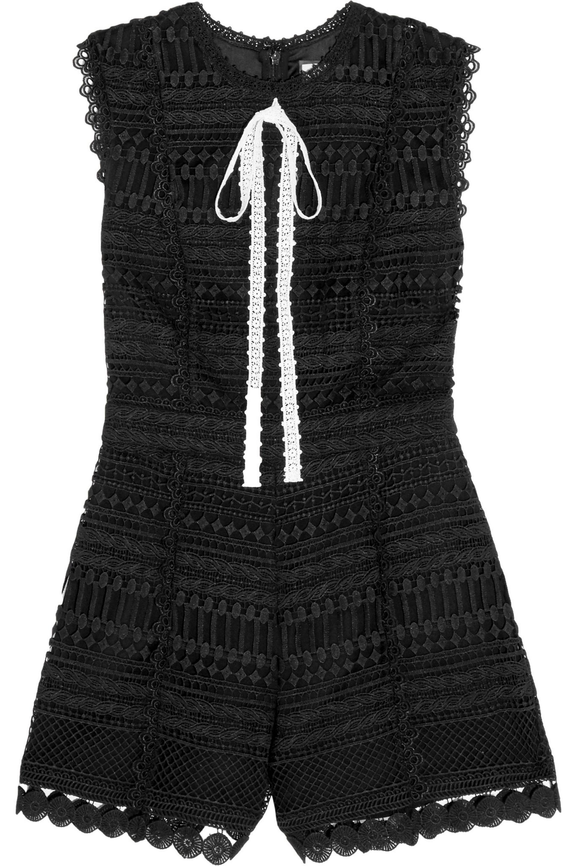 Alexis Woman Syden Guipure Lace Playsuit Black Size XL Alexis Buy Cheap Outlet Store Cheap Collections q72IU