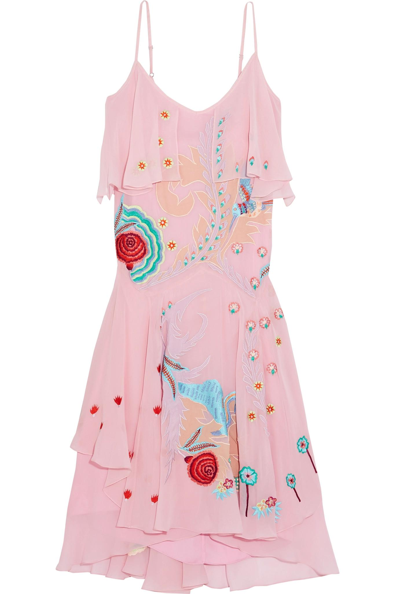 Buy Cheap 2018 Newest Temperley London Woman Chimera Embroidered Silk-crepe Midi Dress Pink Size 10 Temperley London Shipping Discount Sale Sale Low Price VofTKd1e