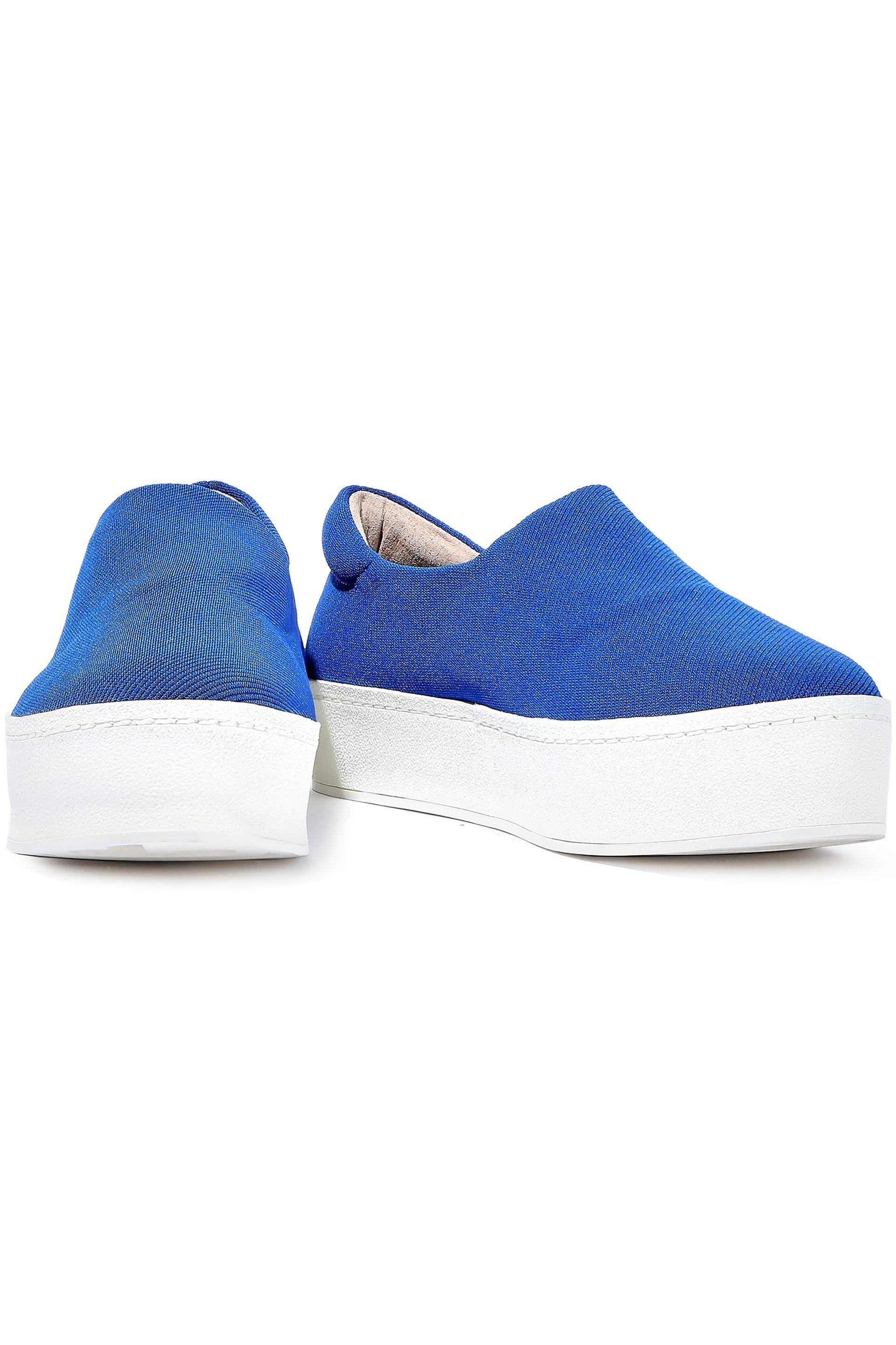 88aef1776003 Opening Ceremony - Blue Woman Cici Twill Platform Slip-on Sneakers Azure -  Lyst. View fullscreen