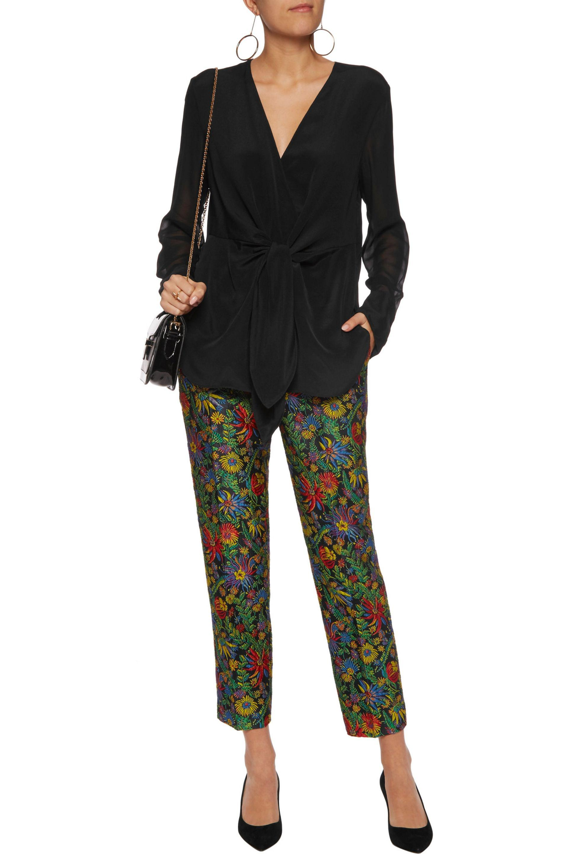 3.1 Phillip Lim Knotted Silk-crepe Blouse in Black
