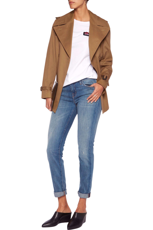 J Brand Denim Low-rise Skinny Jeans in Mid Denim (Blue)