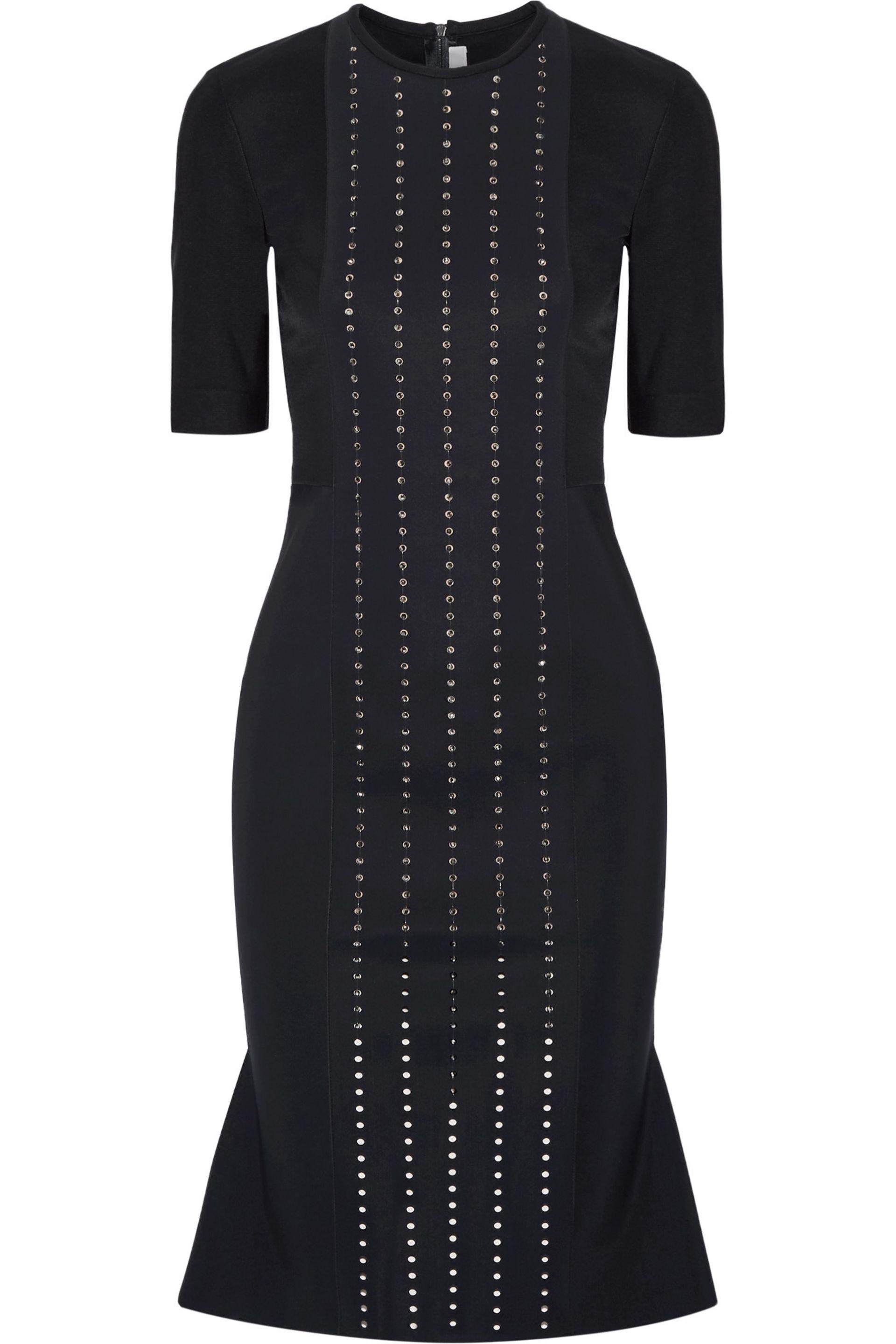 Dion Lee Woman Aperture Swarovski Crystal-embellished Tech-jersey Dress Midnight Blue Size 6 Dion Lee onRcO