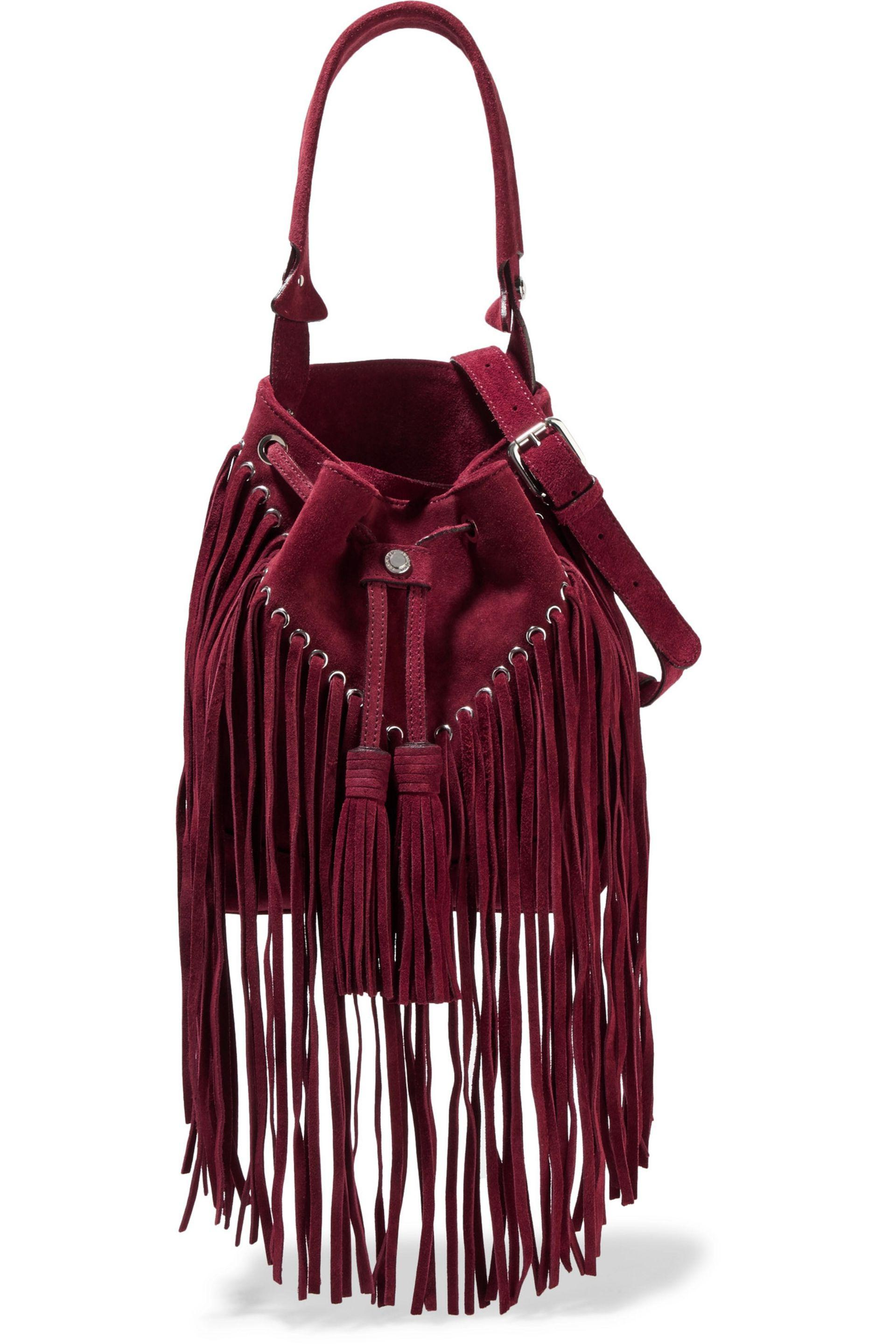 Pink hobo bag with fringed inserts Twin-Set Vaa3OT5R