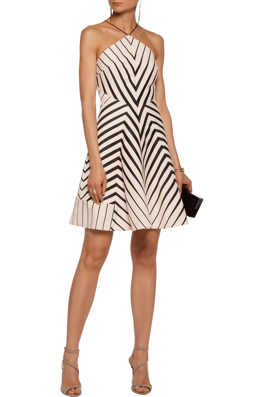 Halston Heritage - Multicolor Striped Twill Mini Dress - Lyst. View  Fullscreen