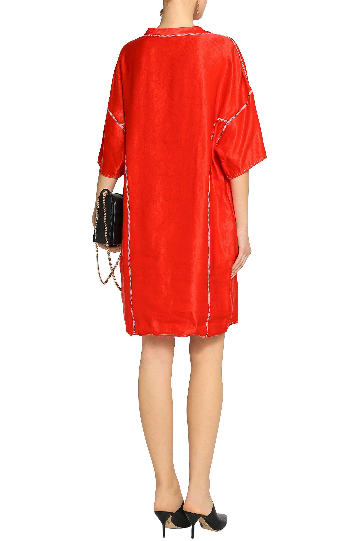 Lanvin Woman Embellished Fil Coupé Organza Mini Dress Tomato Red Size 46 Lanvin 6VNOQpcPUR