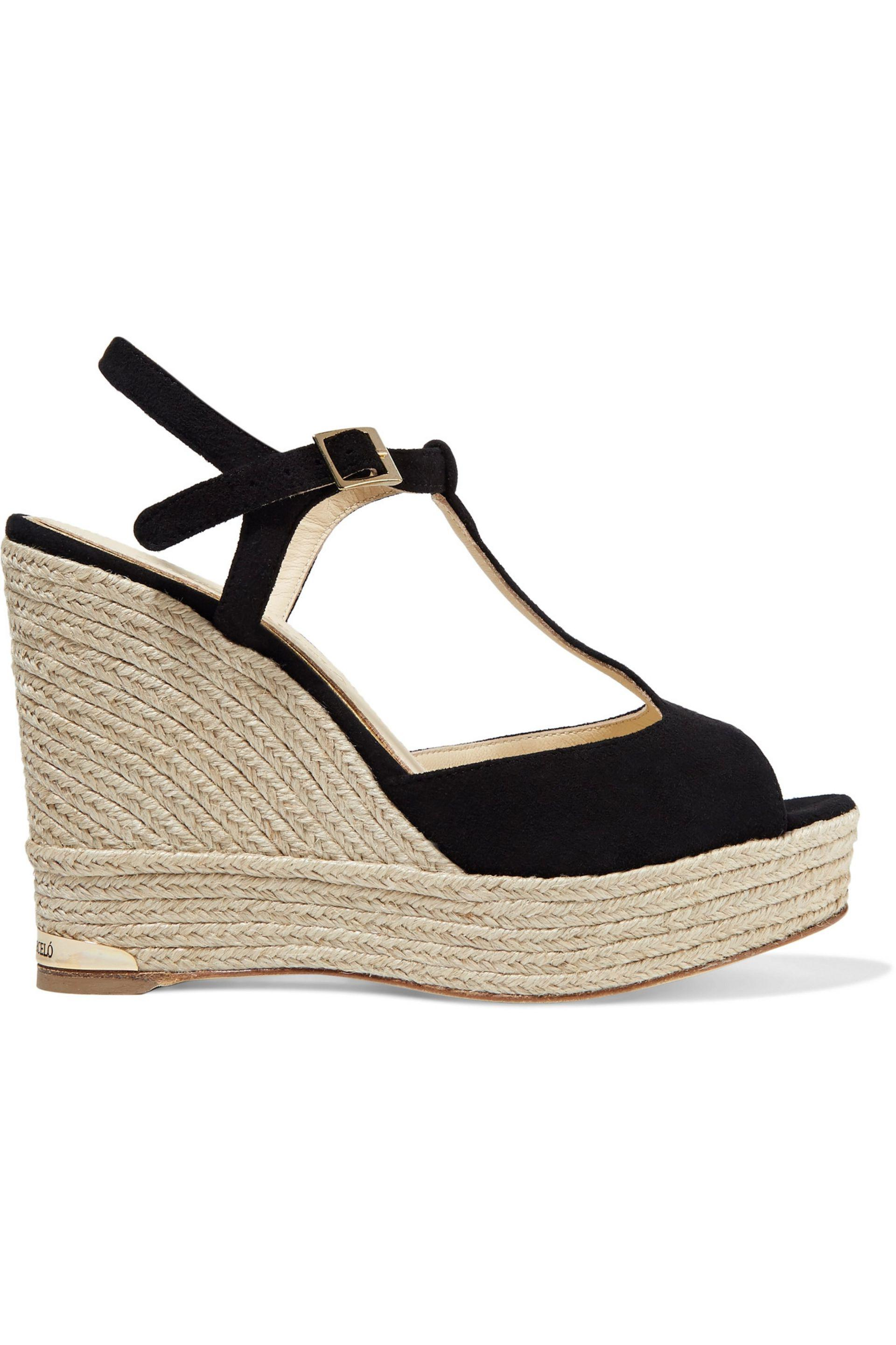 Paloma Barceló Paloma Barceló Woman Colette Knotted Suede Wedge Sandals Size 40 BZrMrA