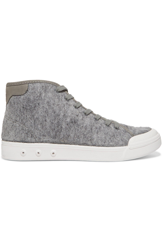 Rag & Bone. Women's Gray Wool-felt High-top Sneakers