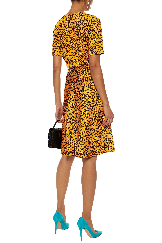 2920cc4b79ea Diane von Furstenberg - Yellow Woman Floral-print Silk-jersey Wrap Dress  Saffron -. View fullscreen